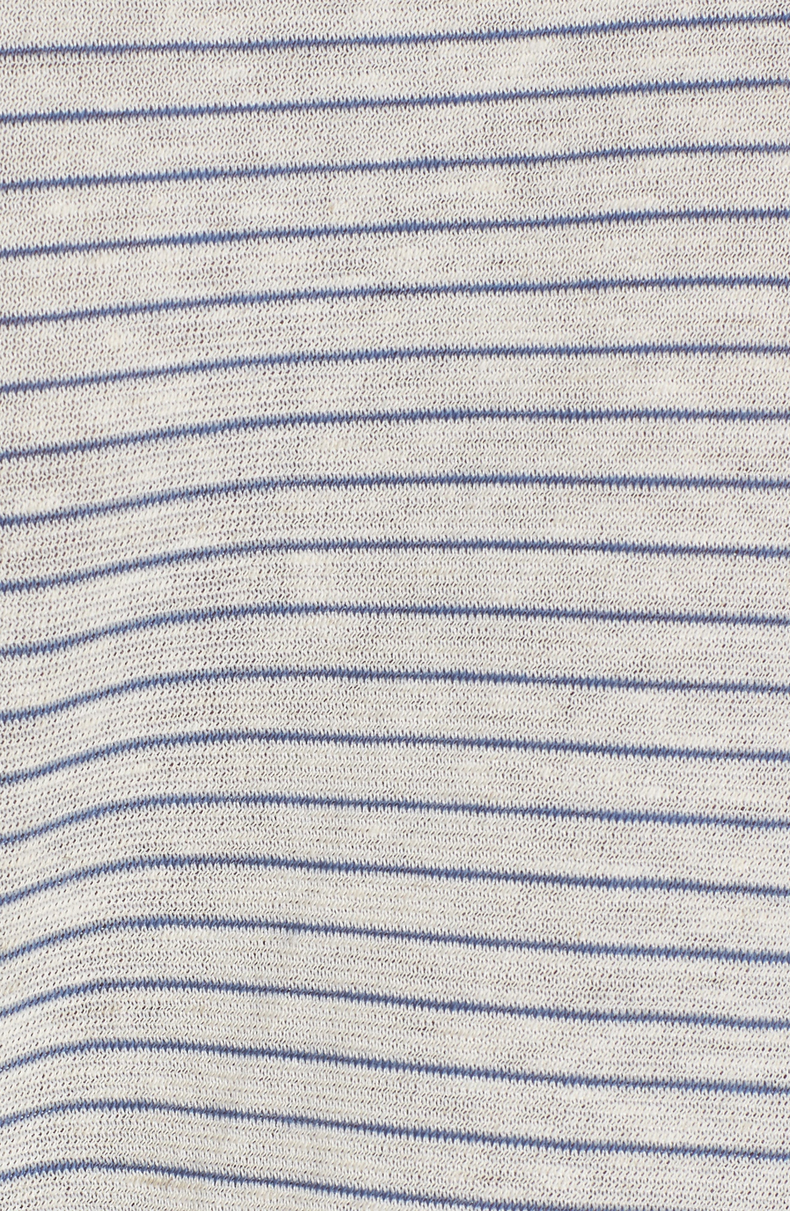 Side Tie Tee,                             Alternate thumbnail 5, color,                             Ivory Egret Chelsea Stripe