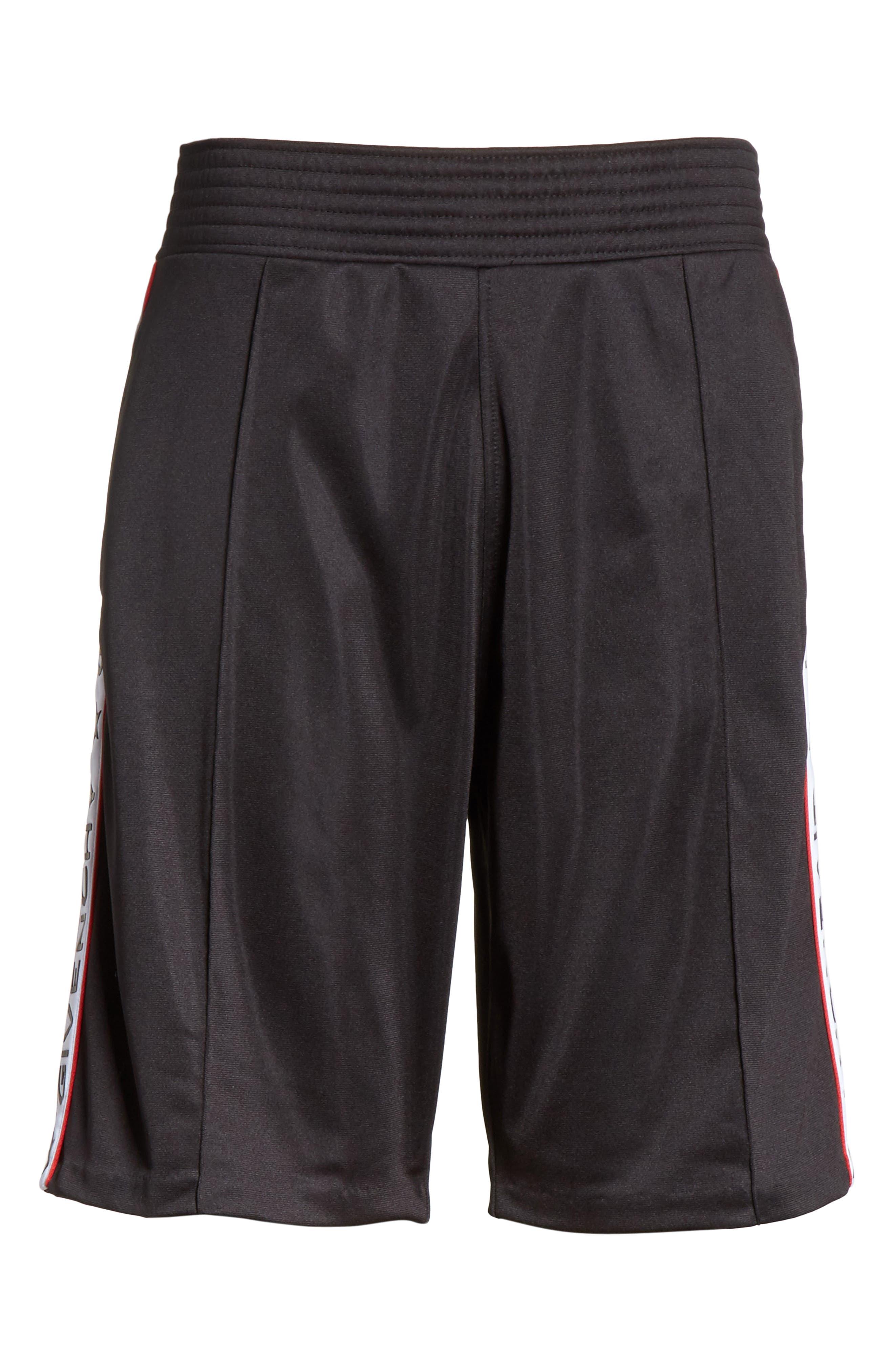 Side Stripe Logo Shorts,                             Alternate thumbnail 6, color,                             Black