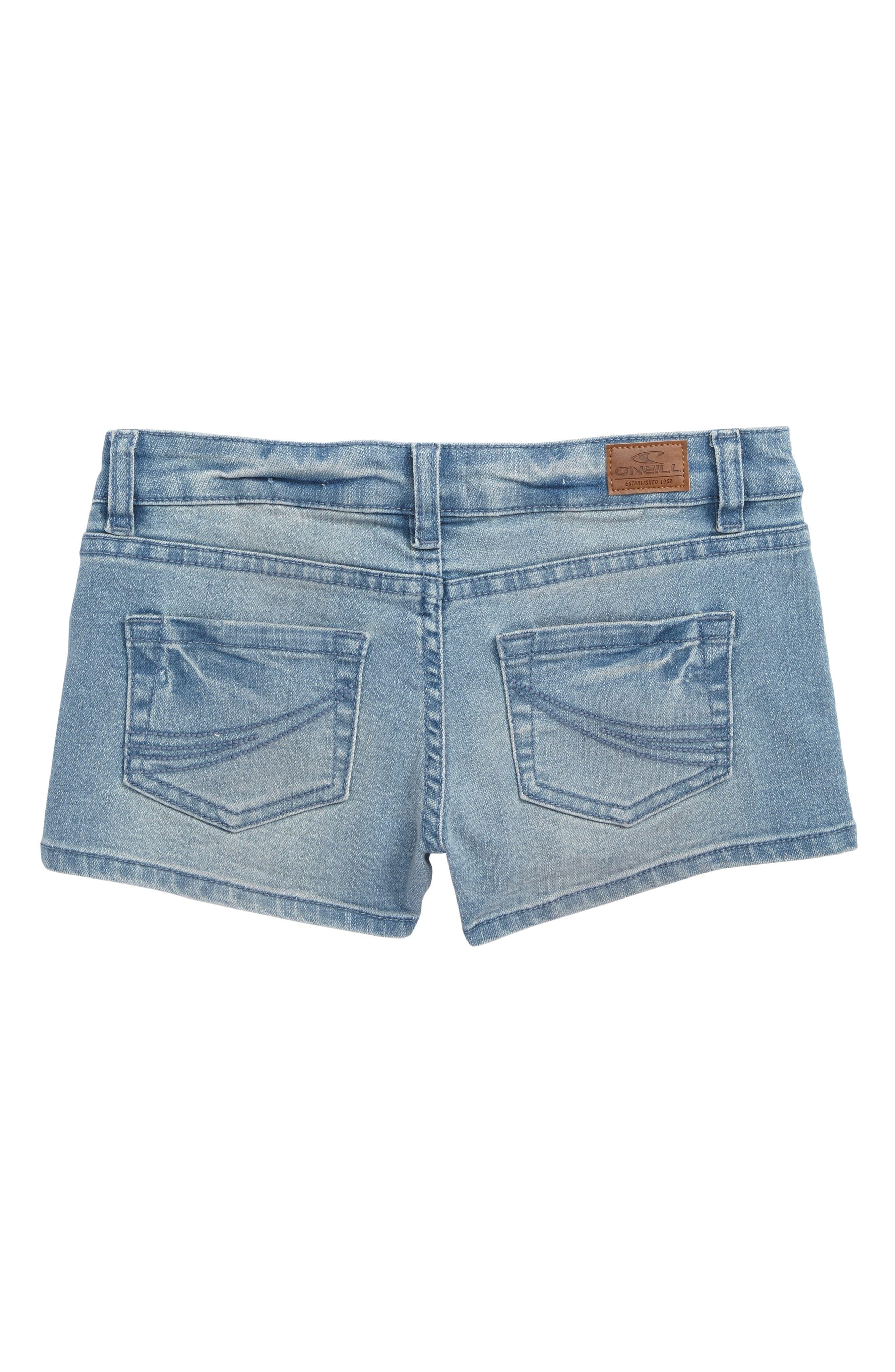 Alternate Image 2  - O'Neiil Waidley Denim Shorts (Big Girls)