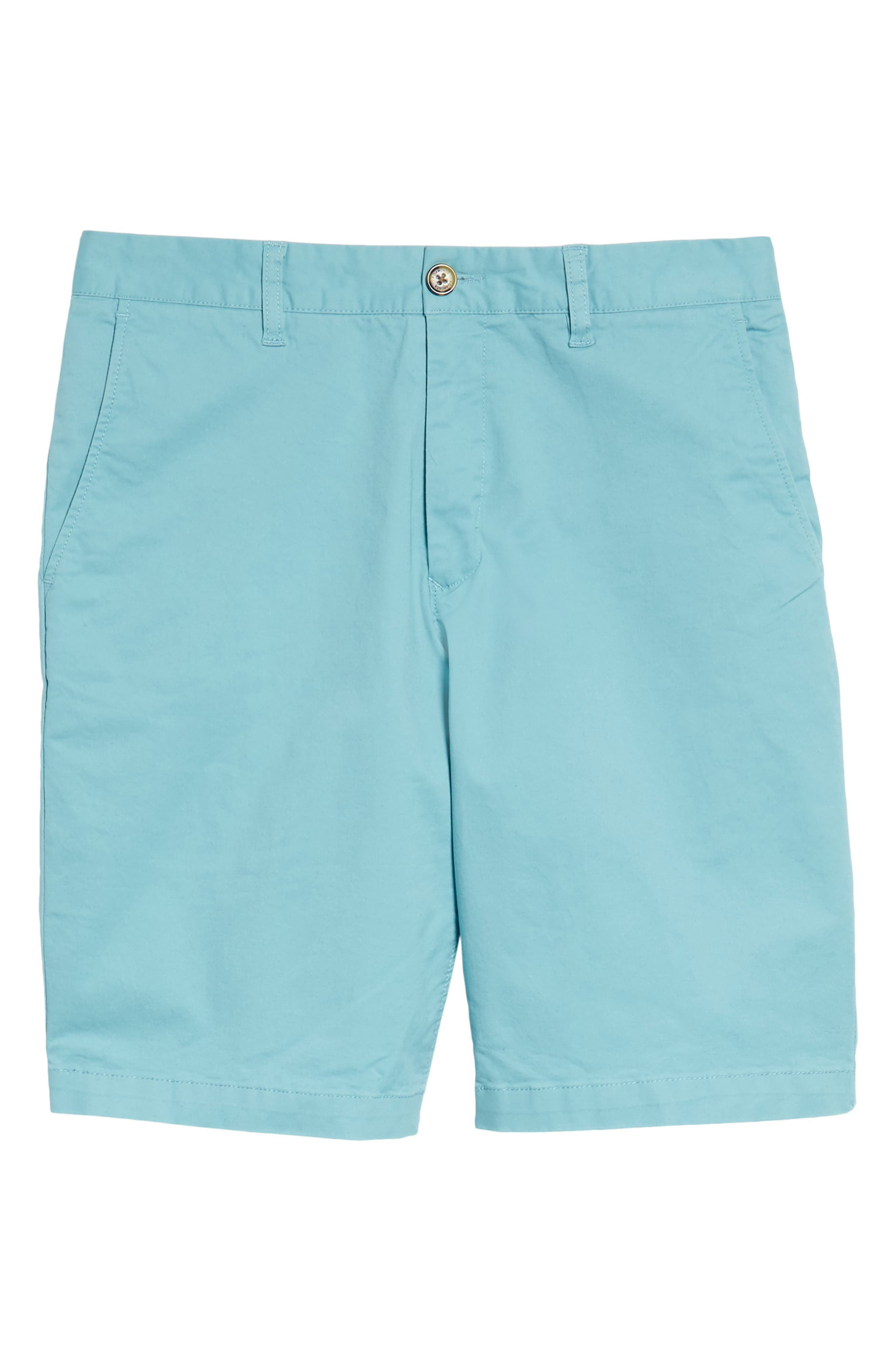 Slim Fit Brushed Twill Shorts,                             Alternate thumbnail 6, color,                             Dusty Blue