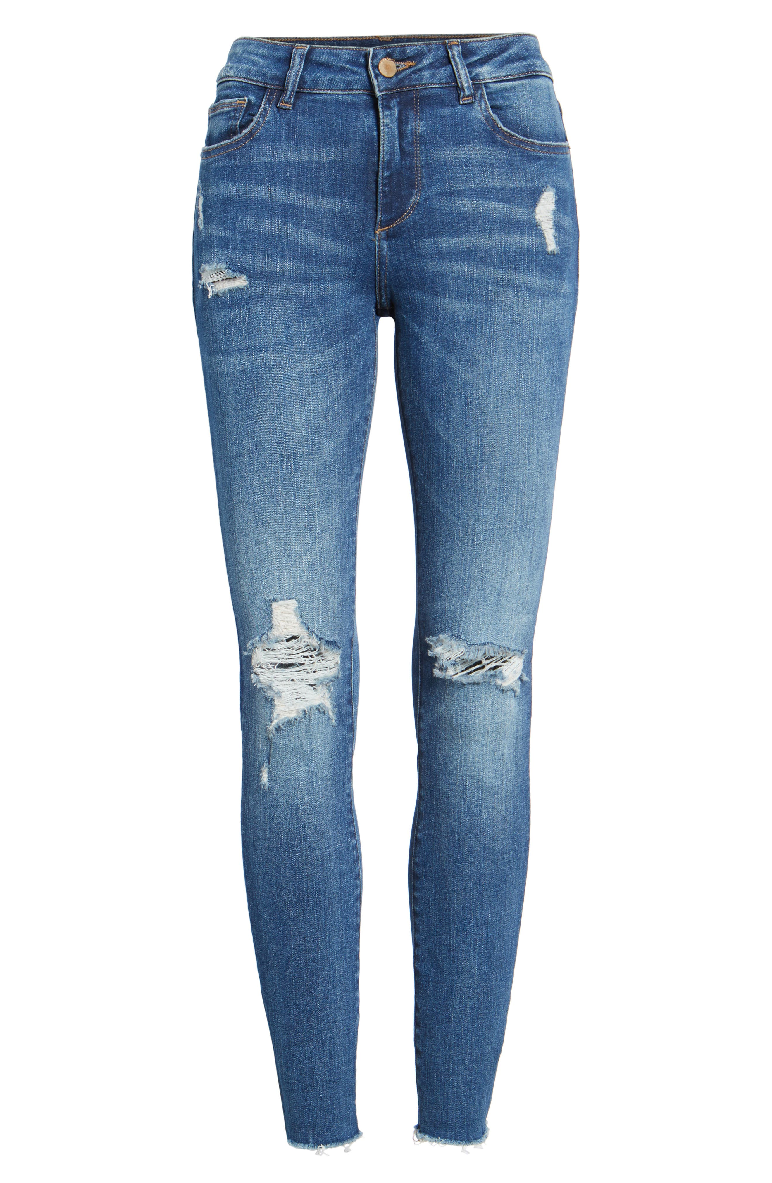 Margaux Instasculpt Ankle Skinny Jeans,                             Alternate thumbnail 7, color,                             Lowell