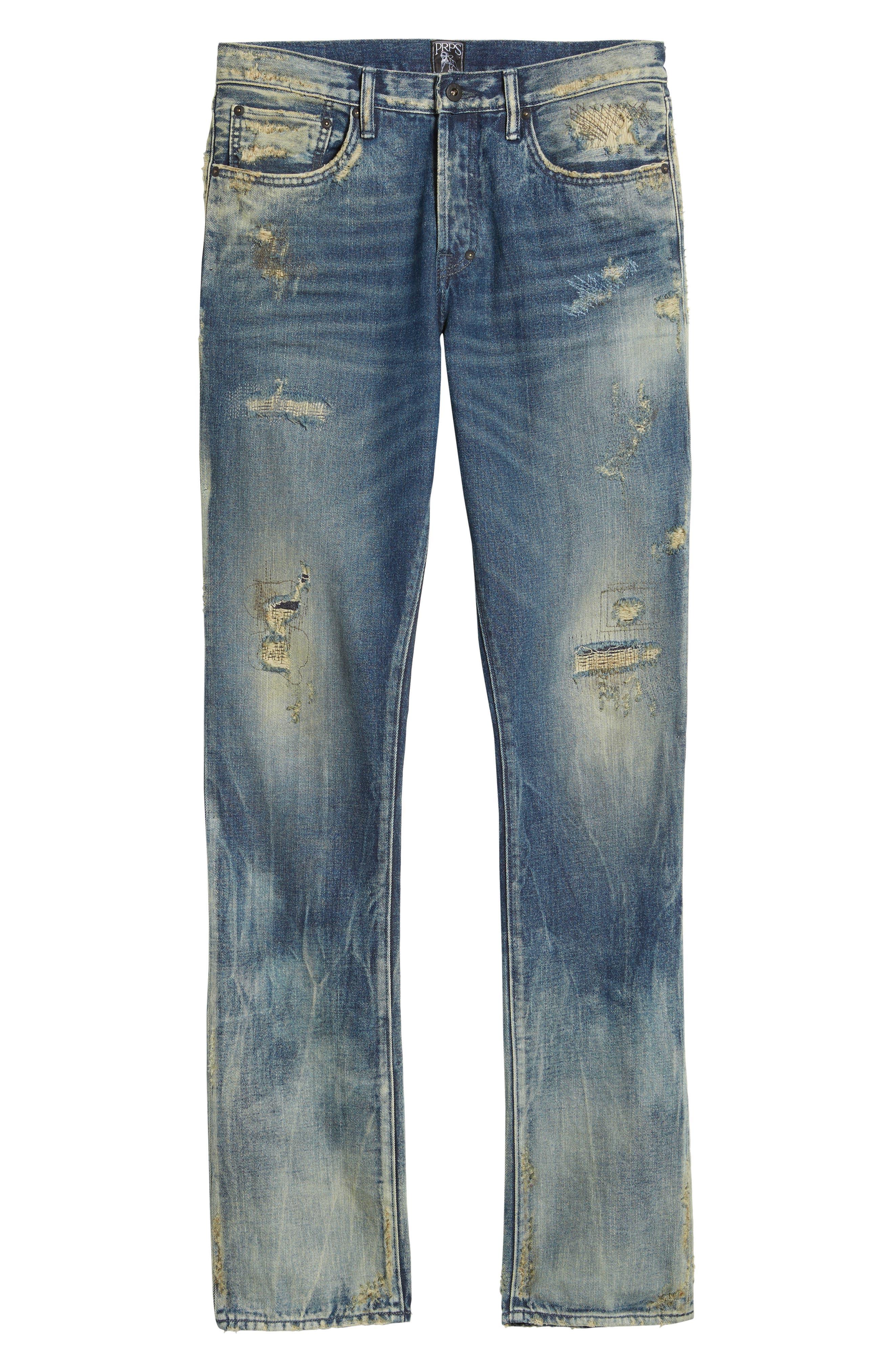 Alternate Image 6  - PRPS Slim Straight Leg Jeans (Hip)