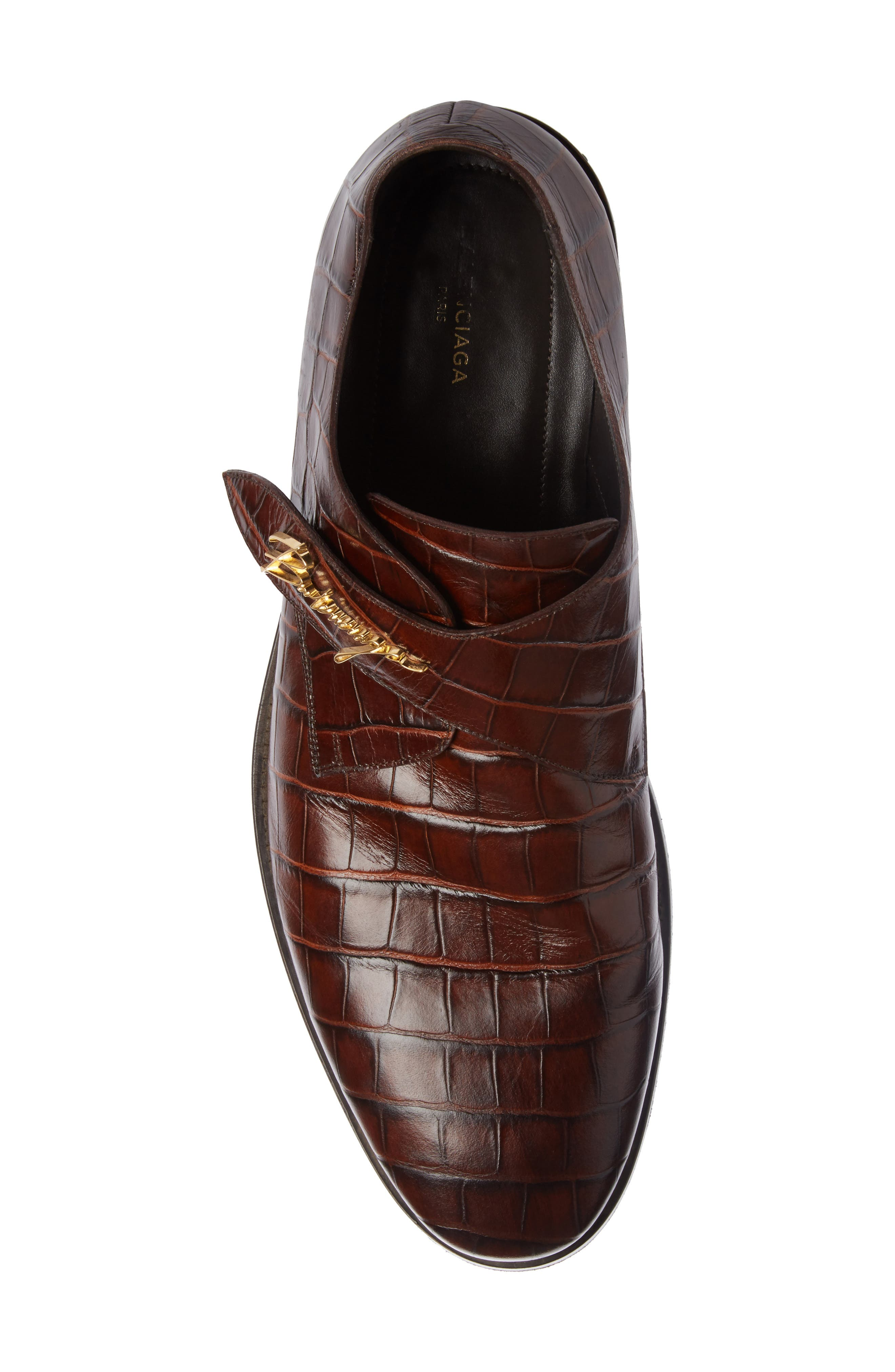 Monk Strap Shoe,                             Alternate thumbnail 4, color,                             Marron Chocolat