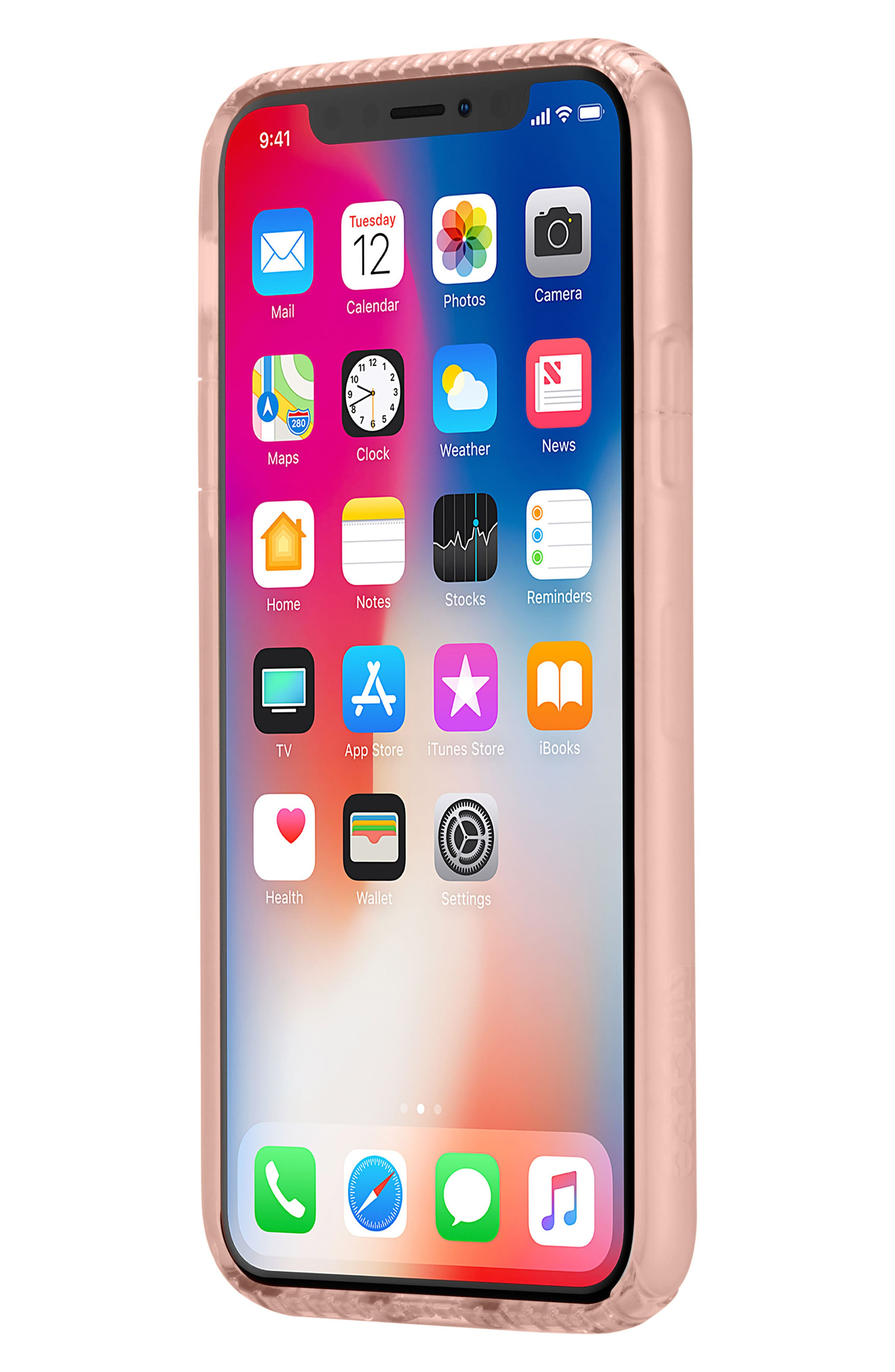 Protective iPhone X Case,                             Alternate thumbnail 7, color,                             Rose Gold