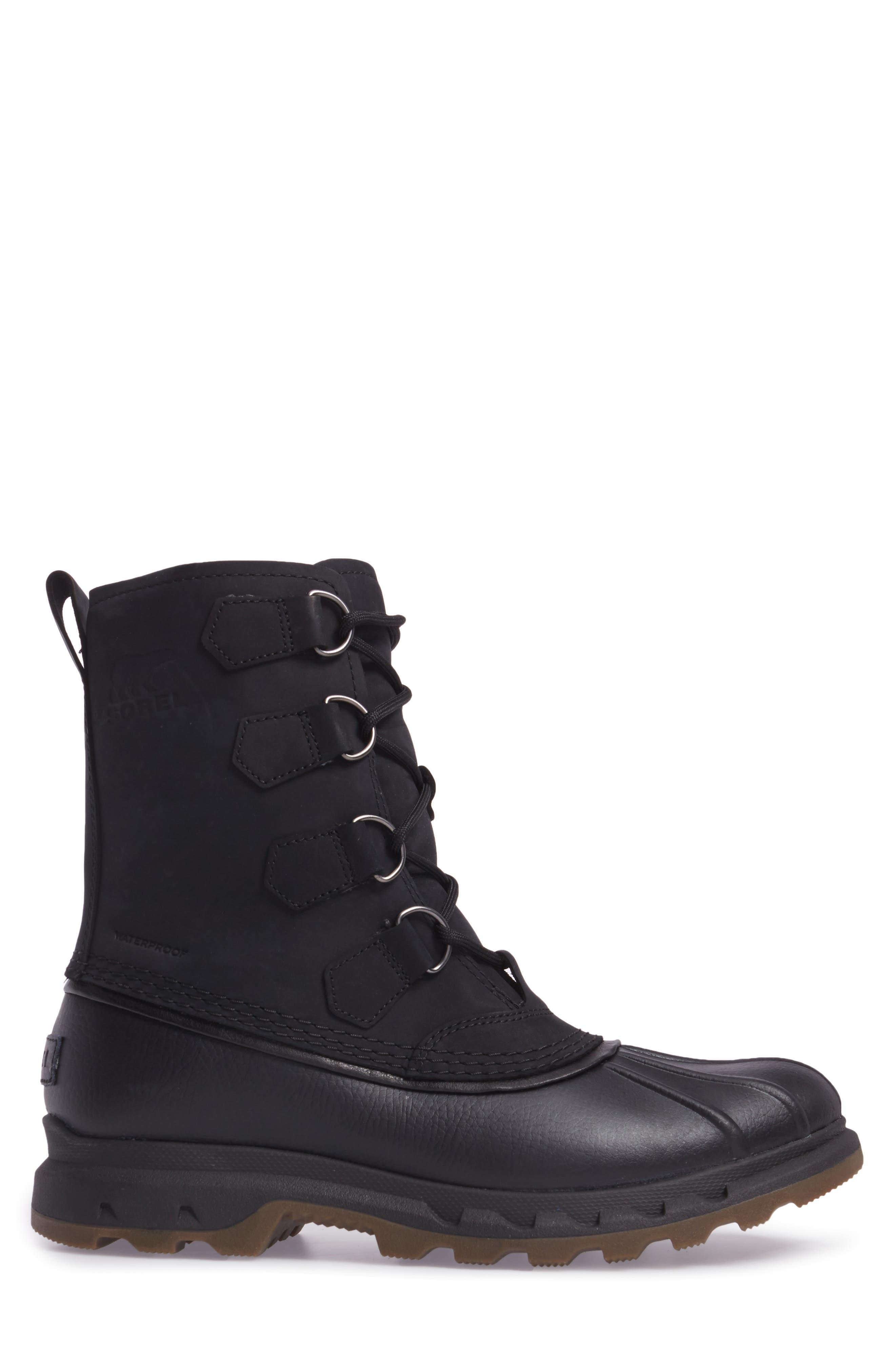 Portzman Classic Rain Boot,                             Alternate thumbnail 3, color,                             Black