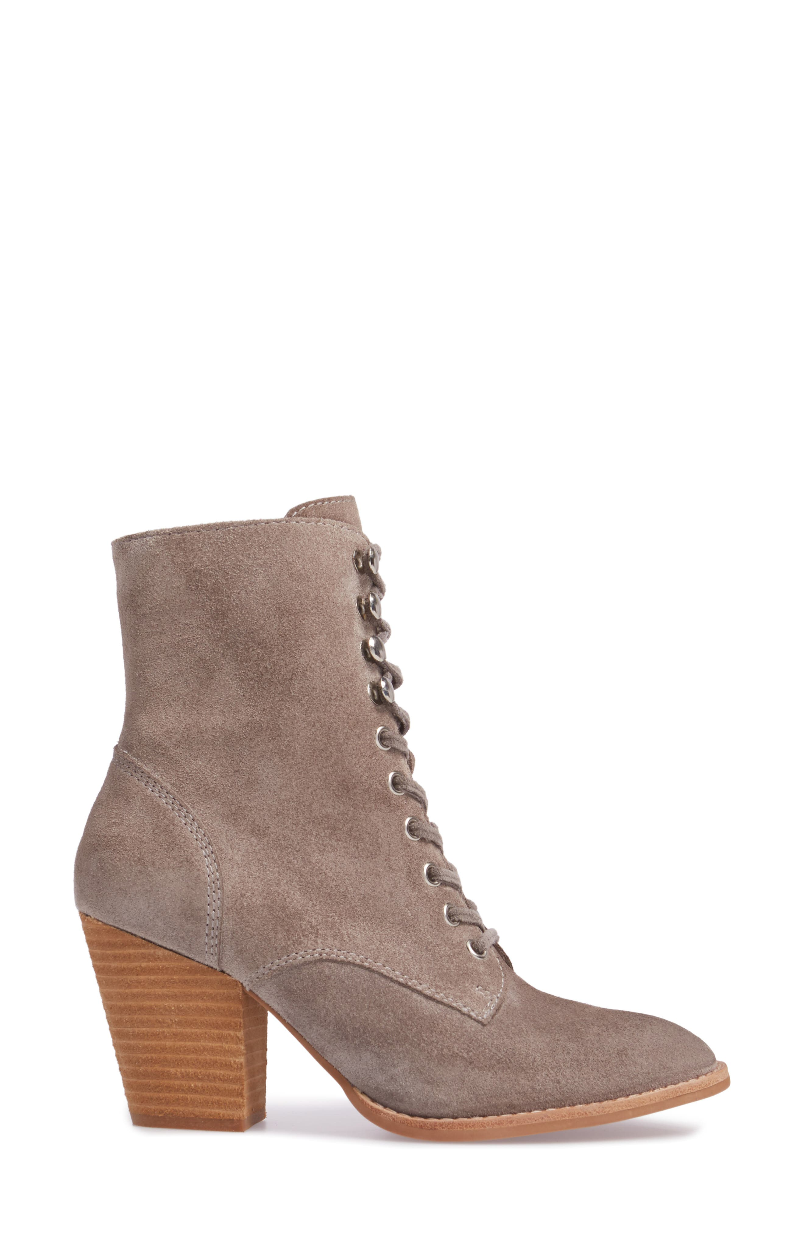 Elman Bootie,                             Alternate thumbnail 3, color,                             Taupe Suede