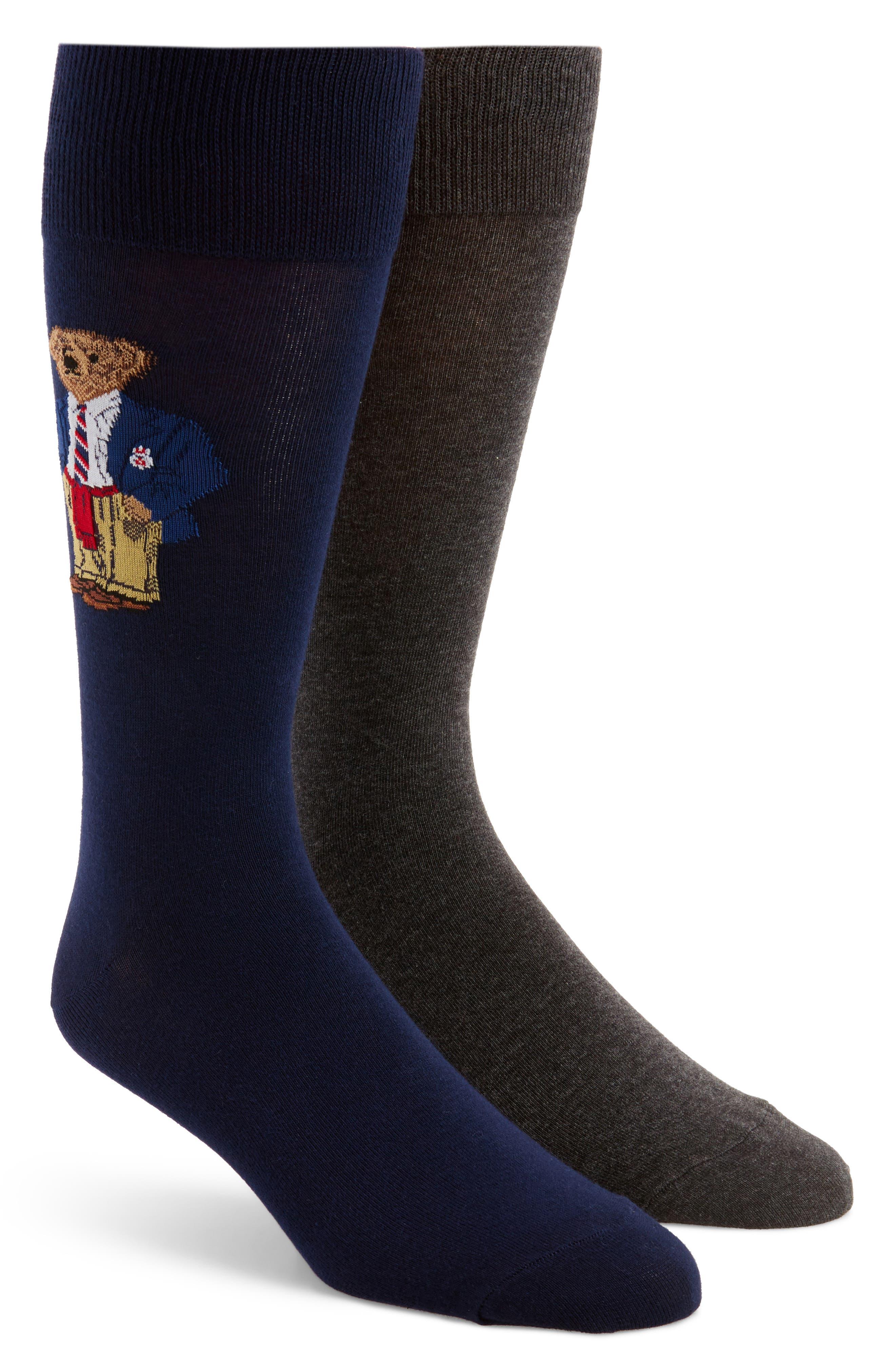 Polo Ralph Lauren 2-Pack Preppy Bear Socks