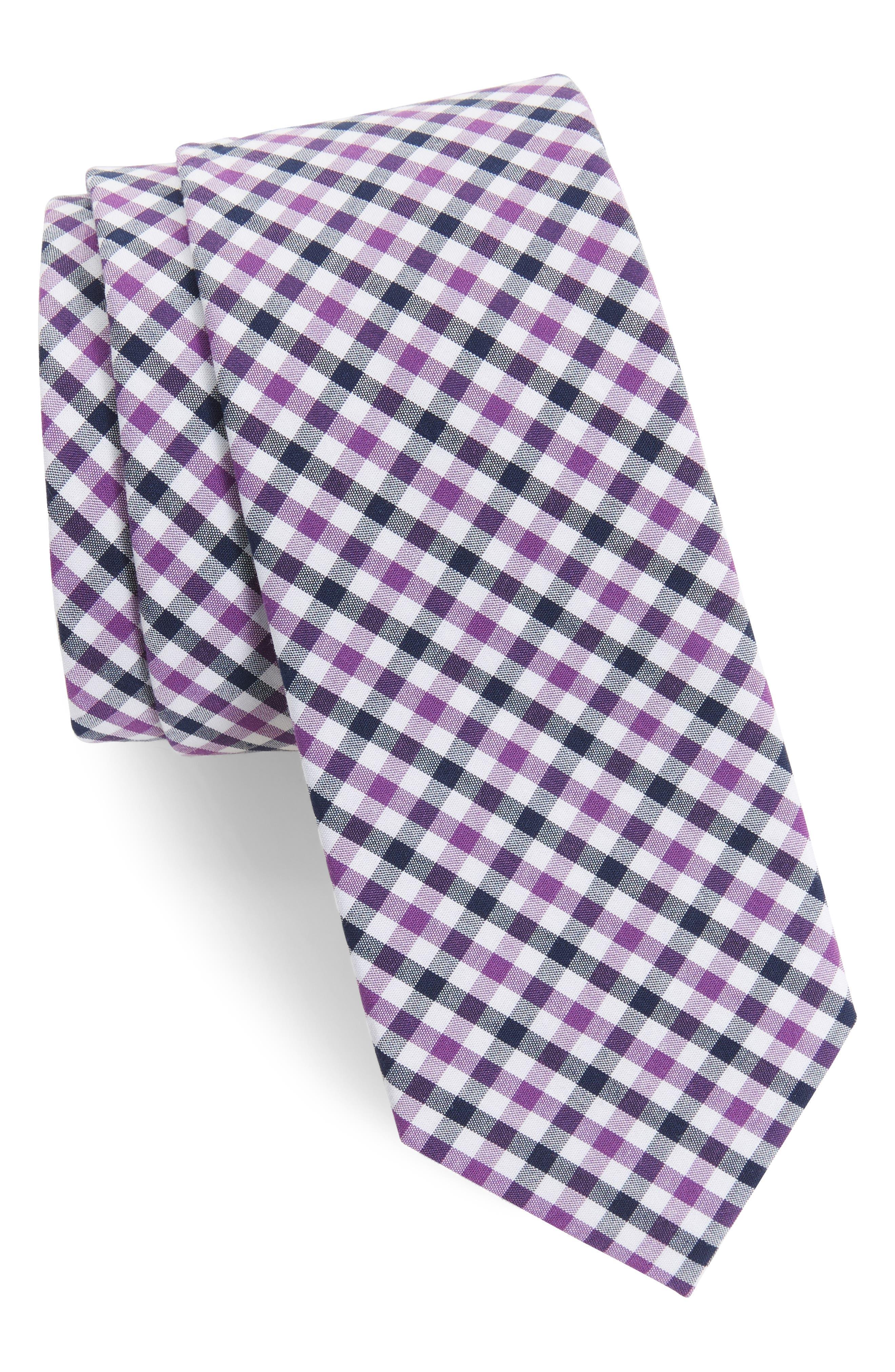 1901 Robin Diamond Check Skinny Tie