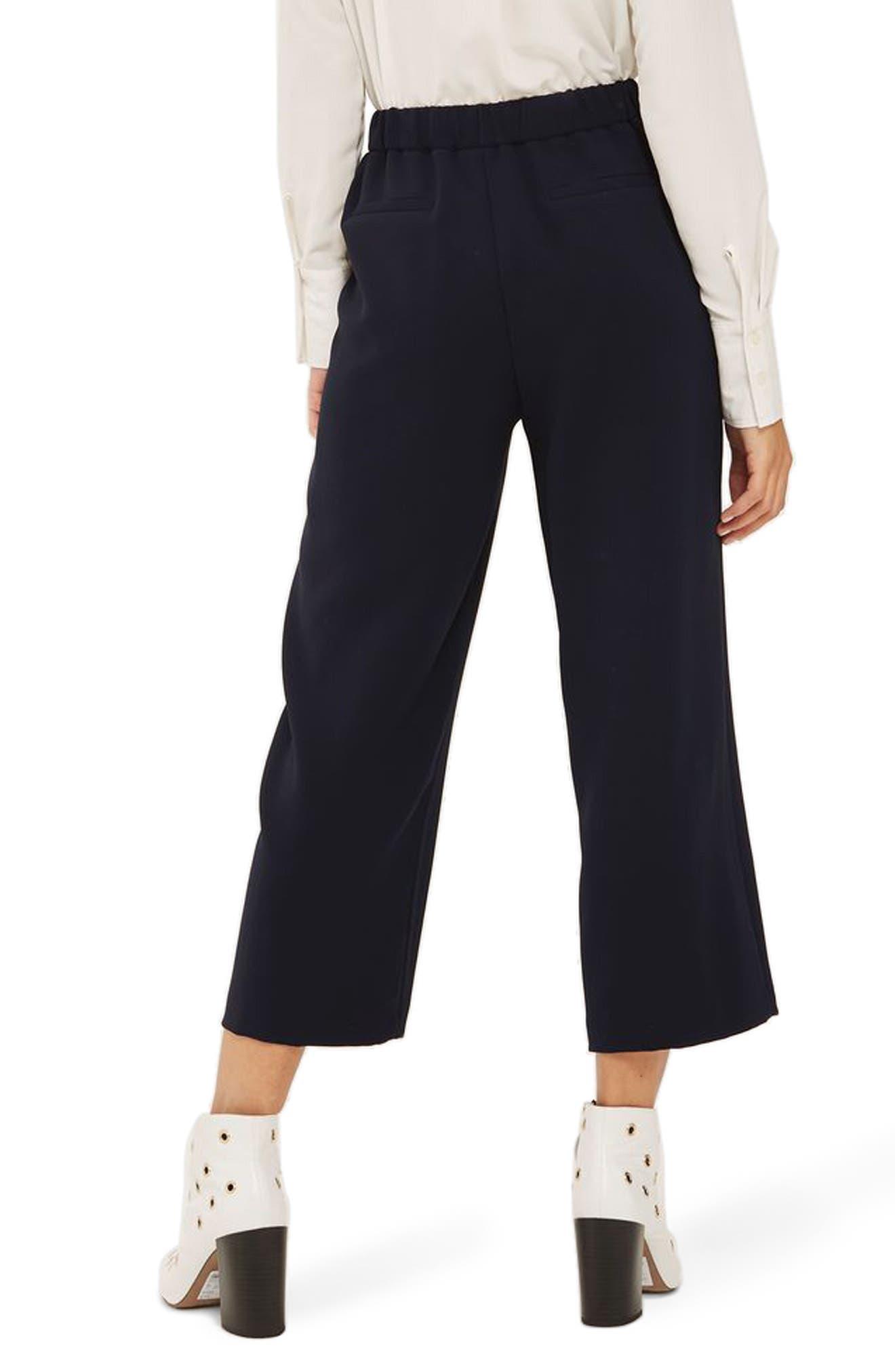 Split Hem Crop Pants,                             Alternate thumbnail 3, color,                             Navy Blue