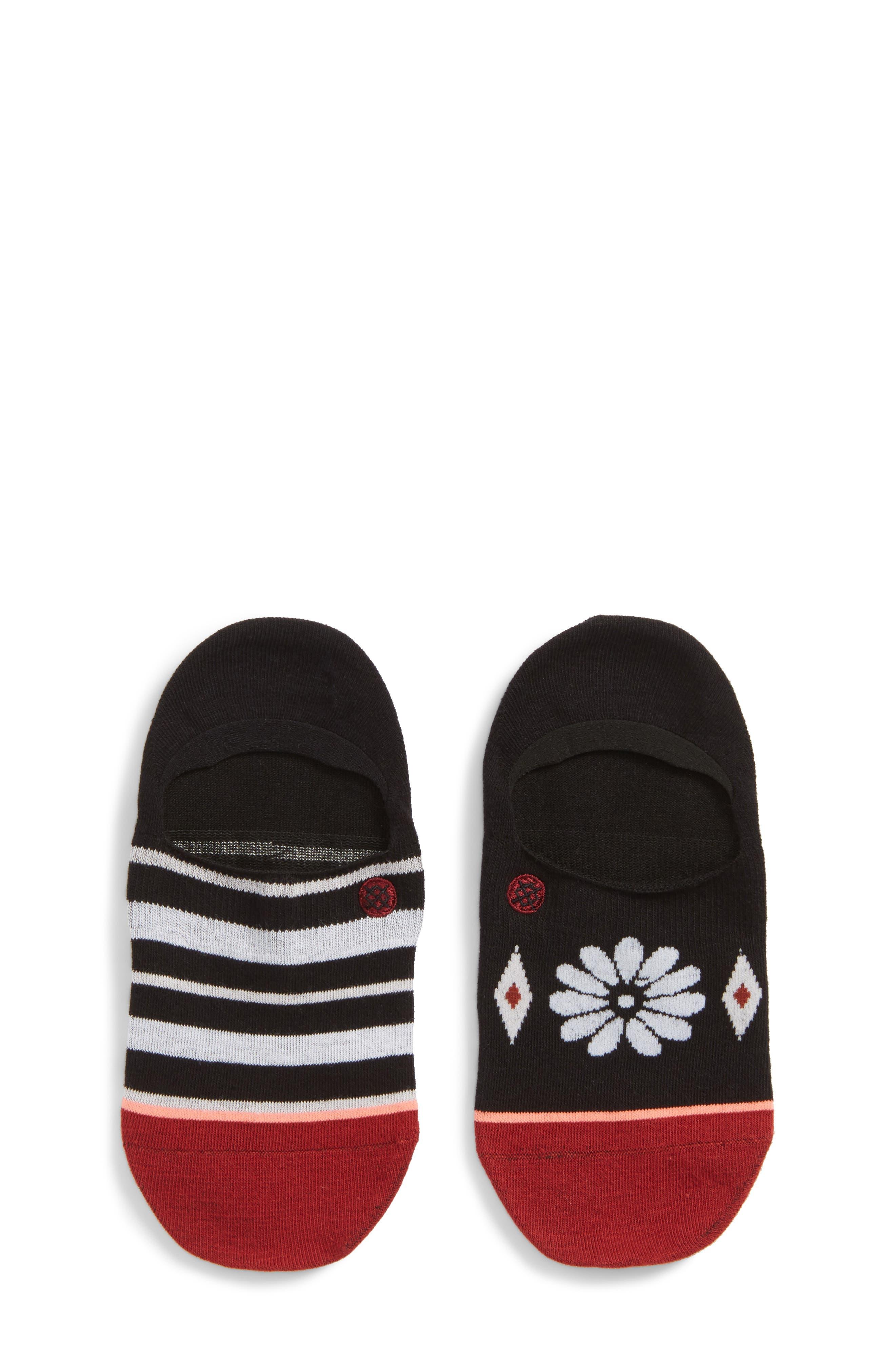 Daisy Mae No-Show Socks,                             Main thumbnail 1, color,                             Black