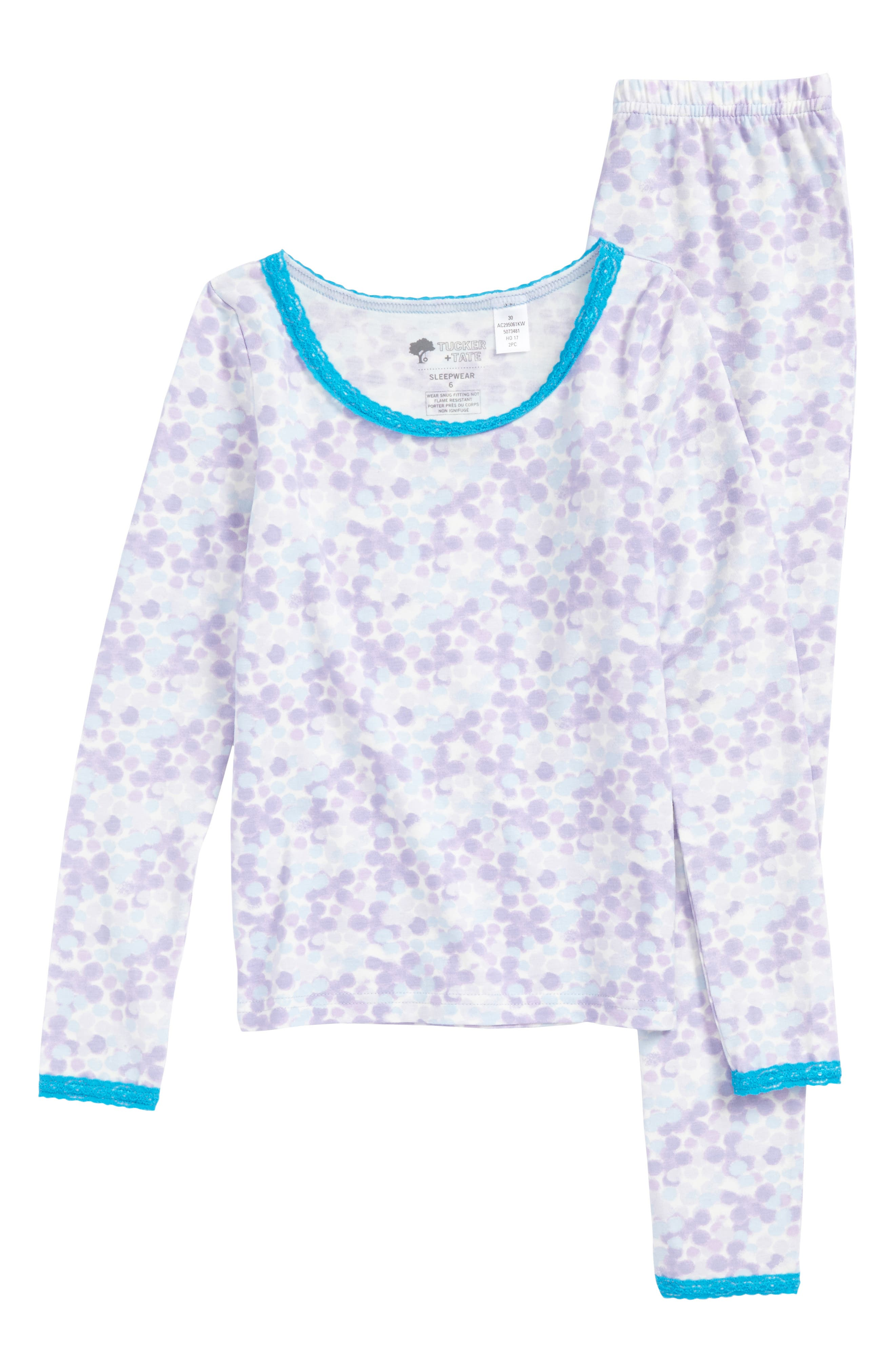 Tucker + Tate Lace Trim Fitted Two-Piece Pajamas (Little Girls & Big Girls)