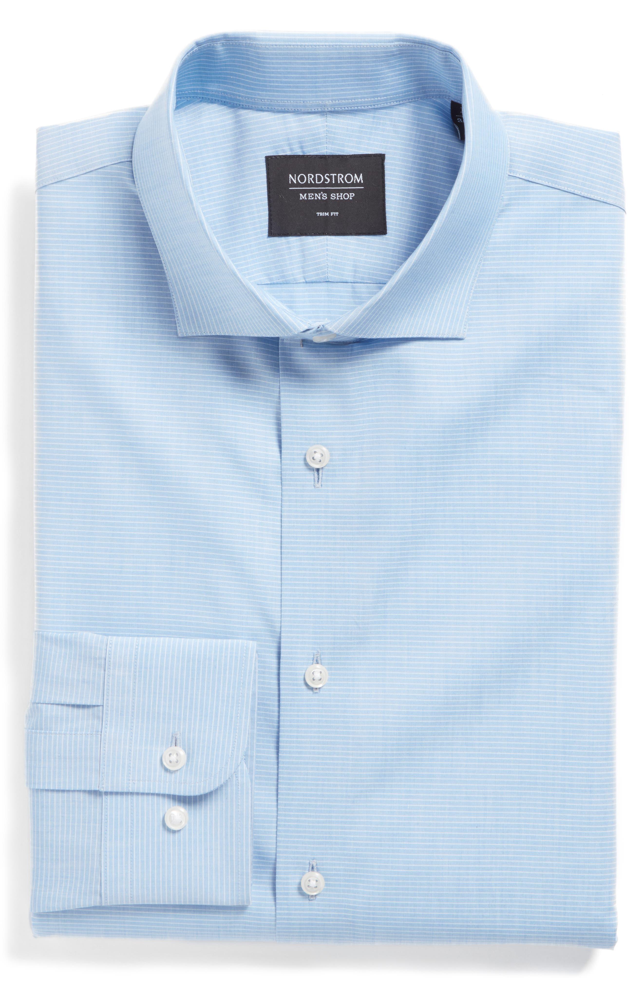 Main Image - Nordstrom Men's Shop Trim Fit Stripe Dress Shirt