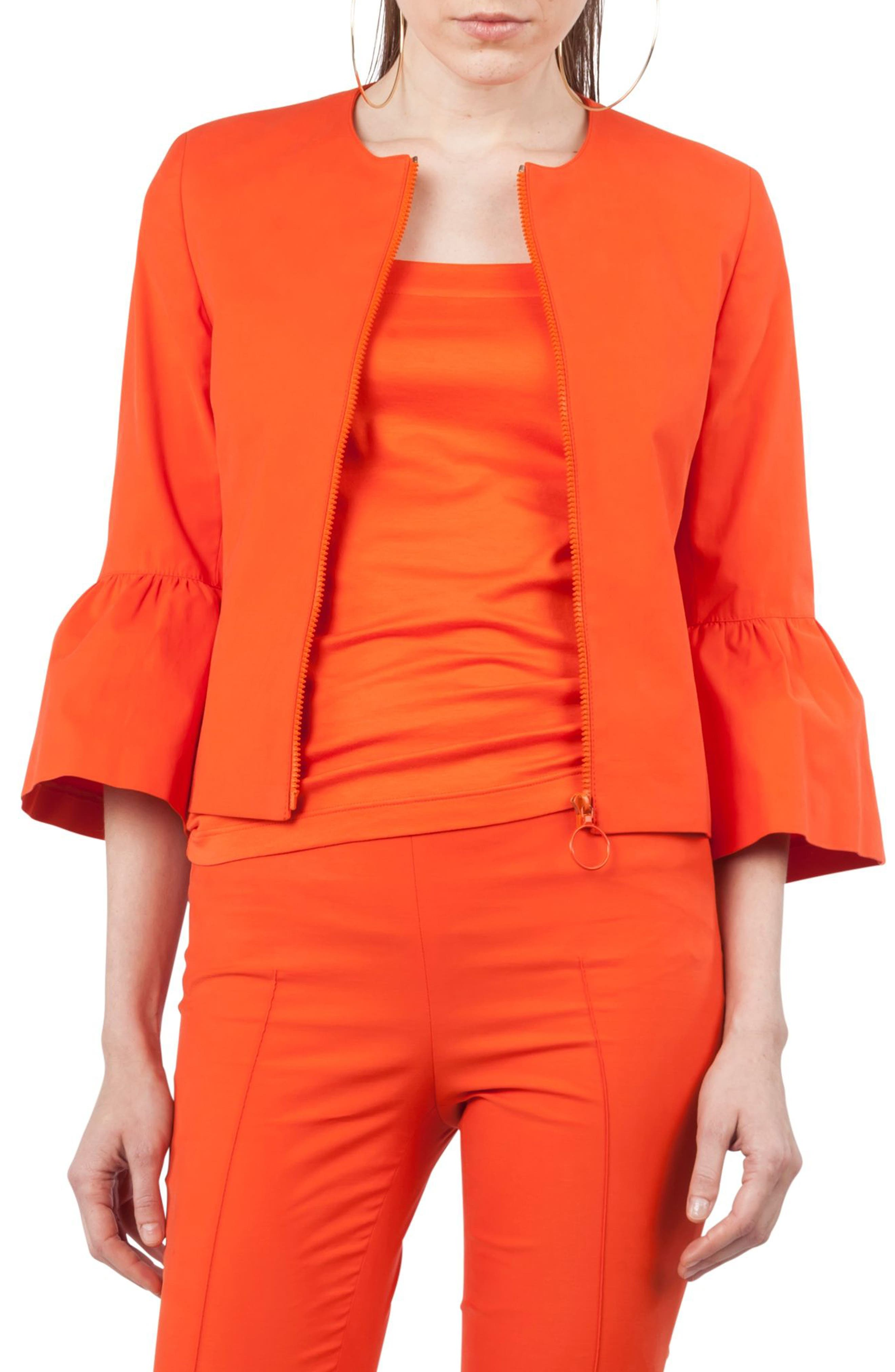 Main Image - Akris punto Ruffle Cuff Jacket