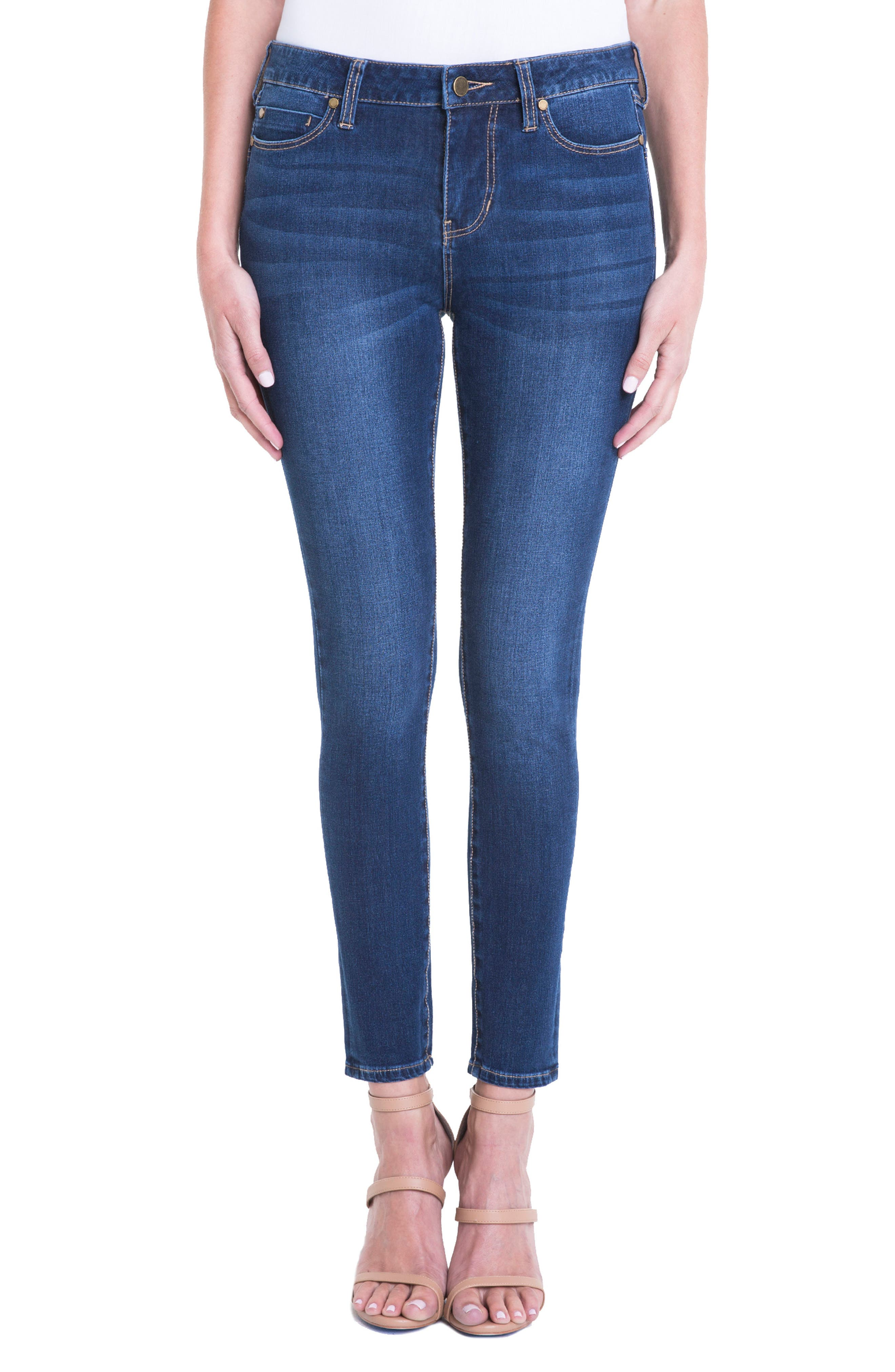 Main Image - Liverpool Jeans Company Piper Hugger Lift Sculpt Ankle Skinny Jeans (Lynx)