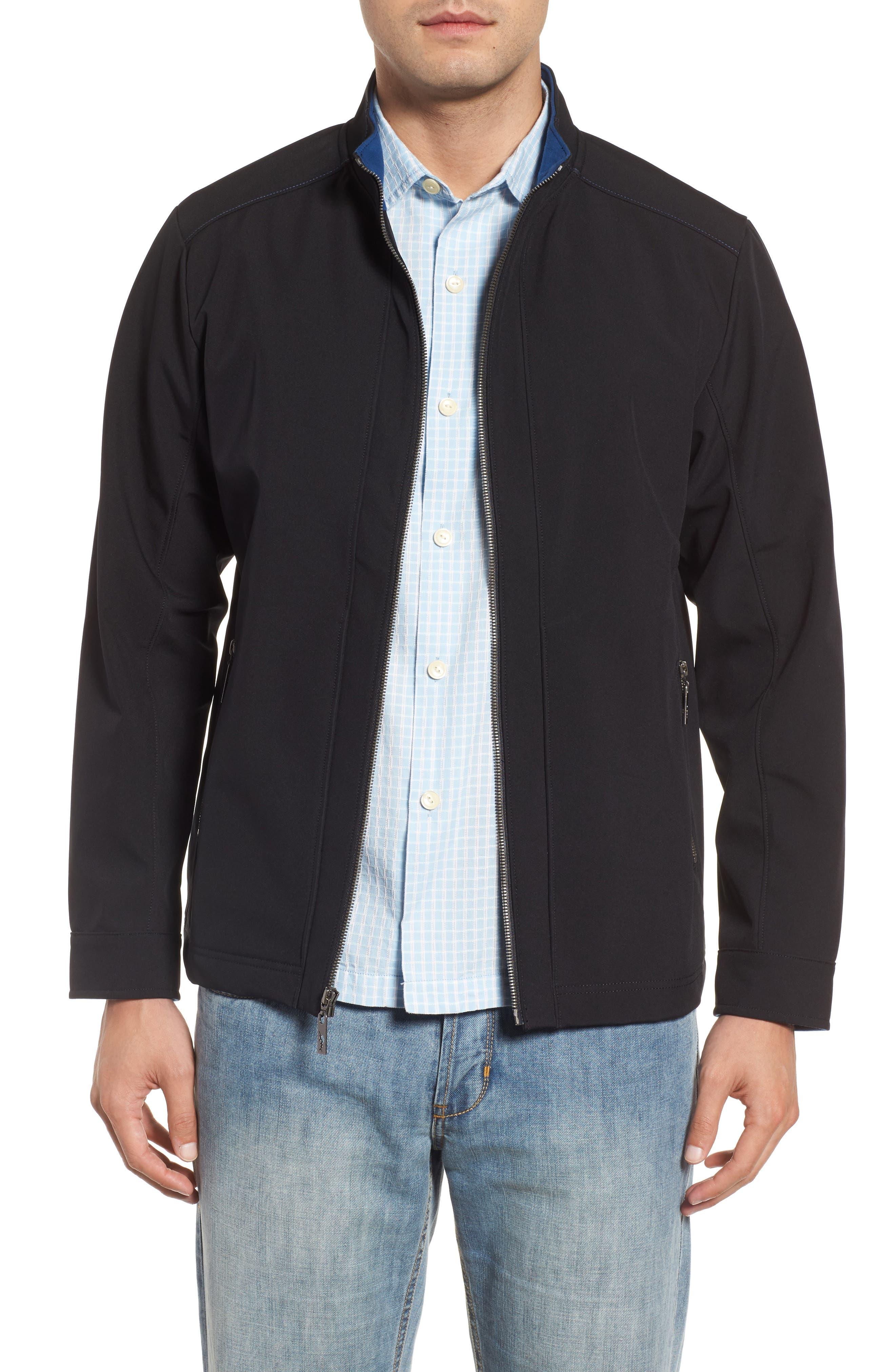Downswing Zip Jacket,                             Main thumbnail 1, color,                             Black