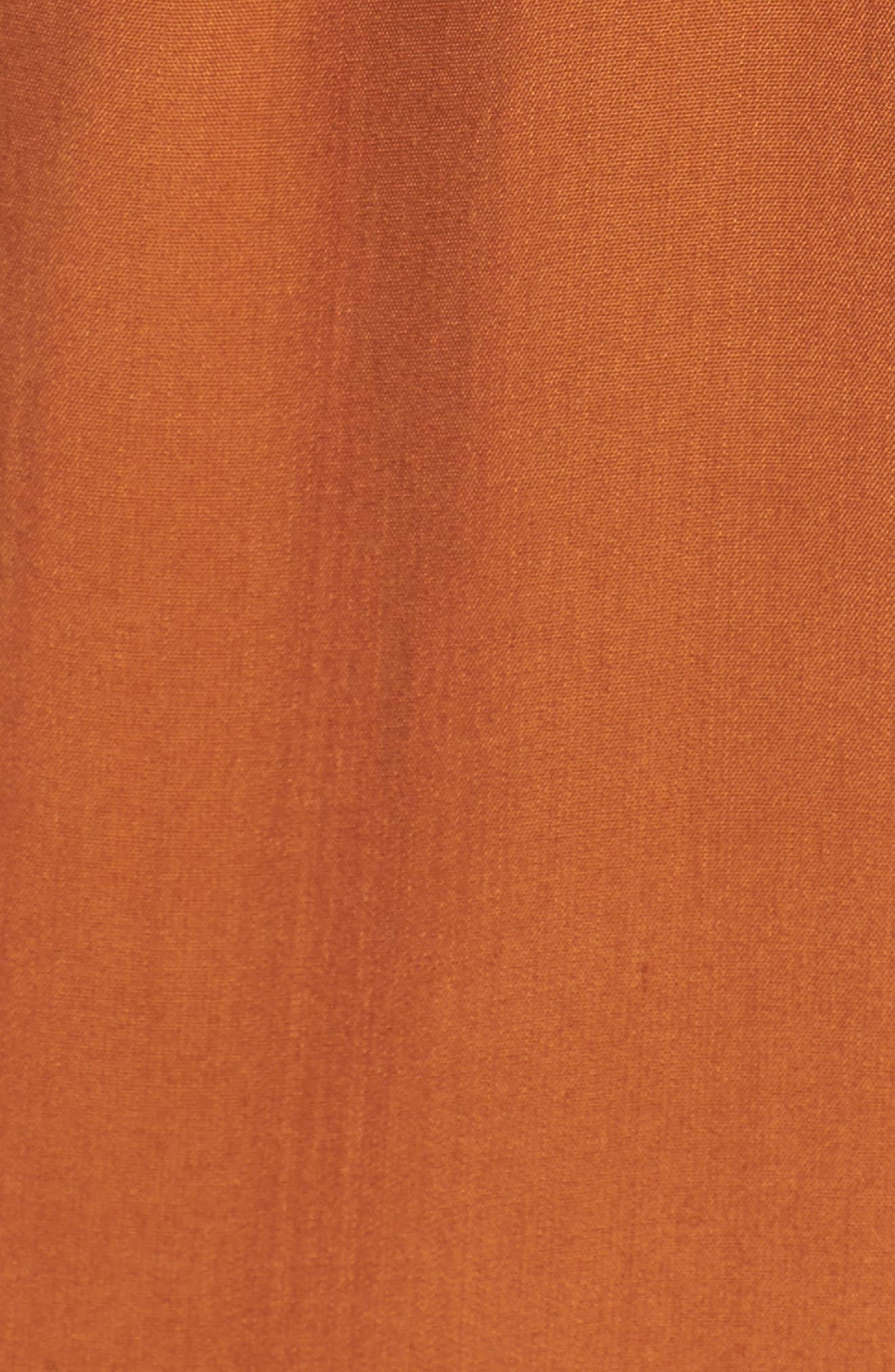 Cedric Plunging Jumpsuit,                             Alternate thumbnail 5, color,                             Plain Burnt Sienna