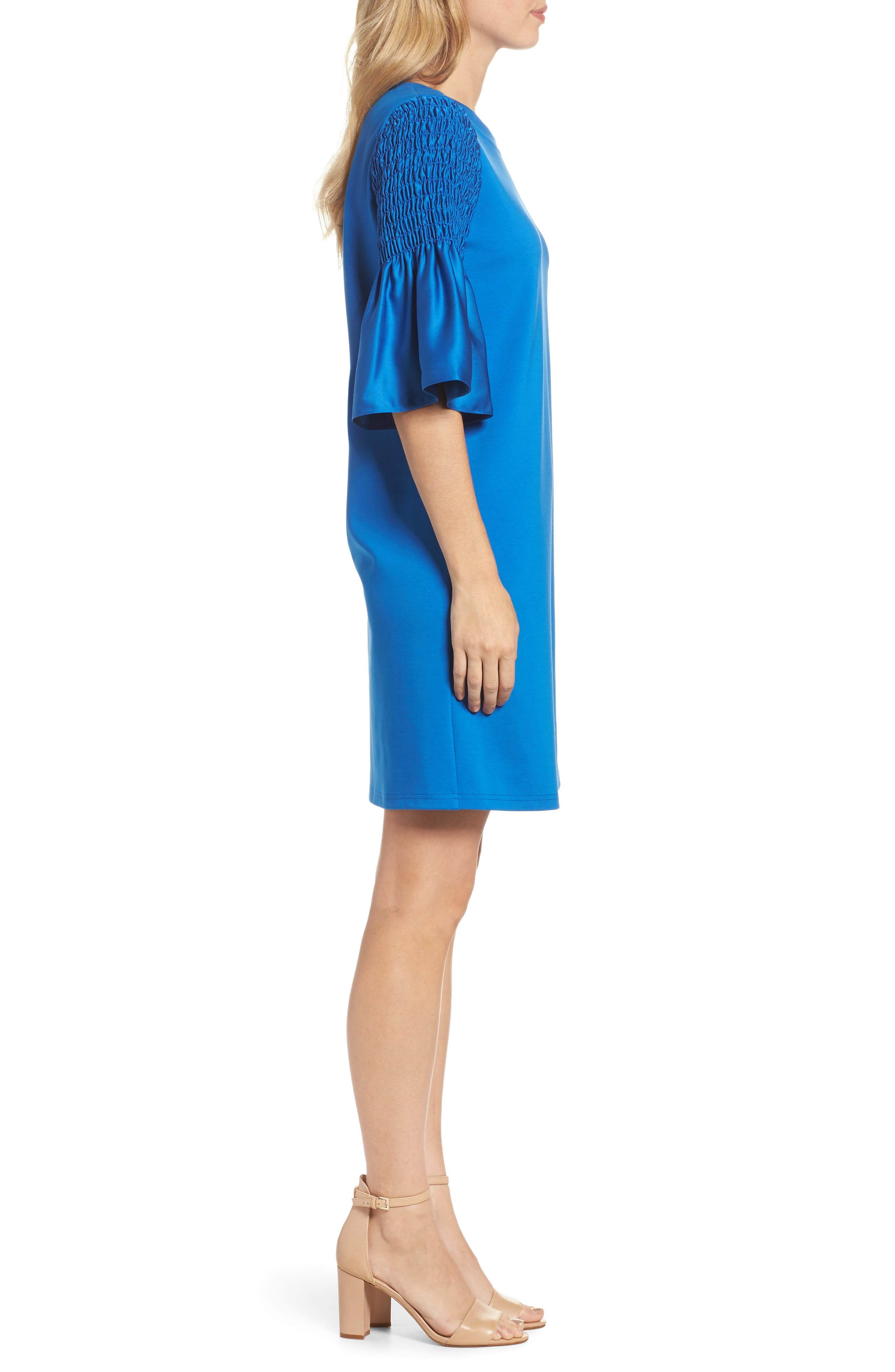 Suzette Shift Dress,                             Alternate thumbnail 3, color,                             Cobalt
