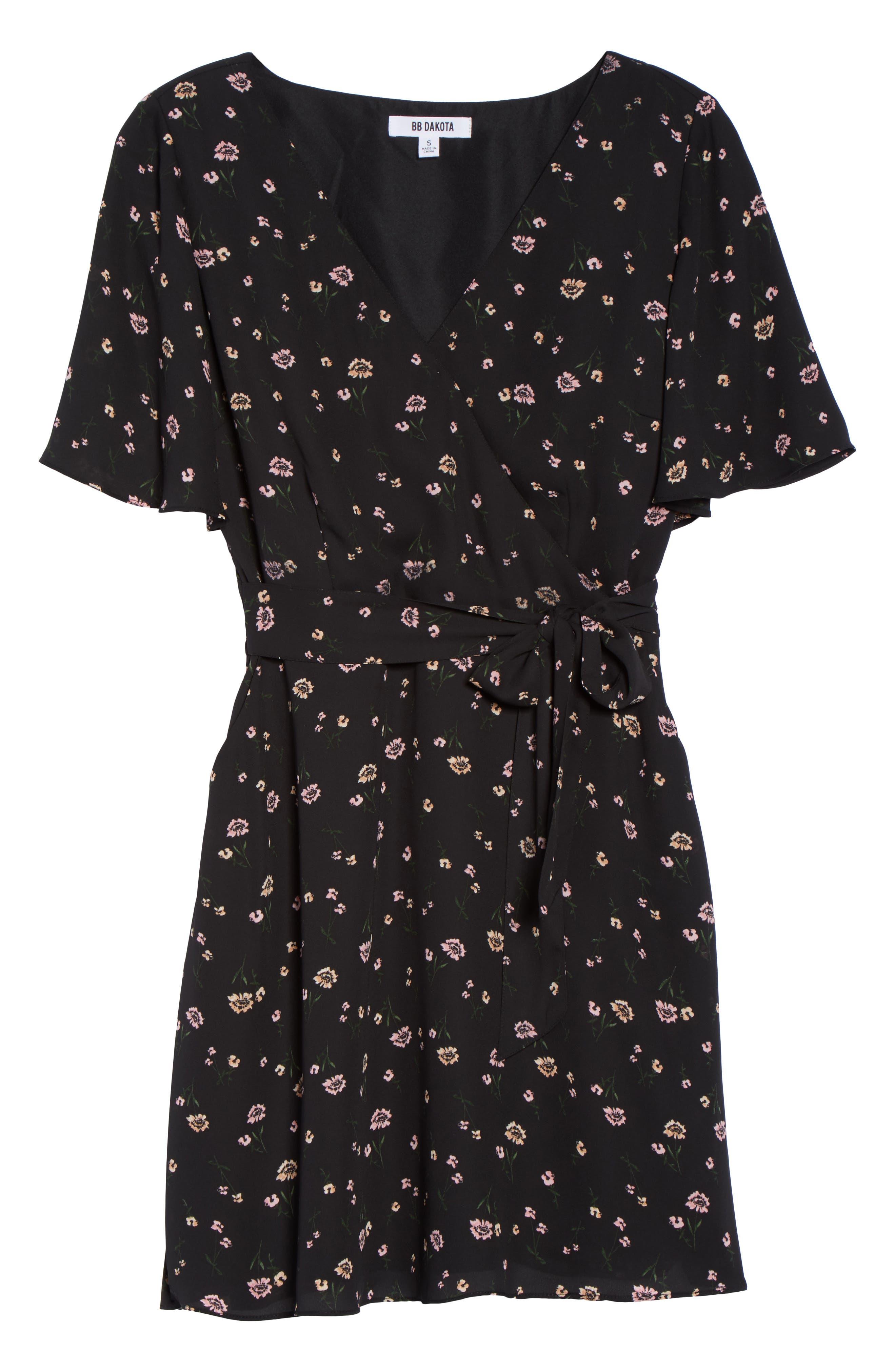Lettie Dress,                             Alternate thumbnail 6, color,                             Black