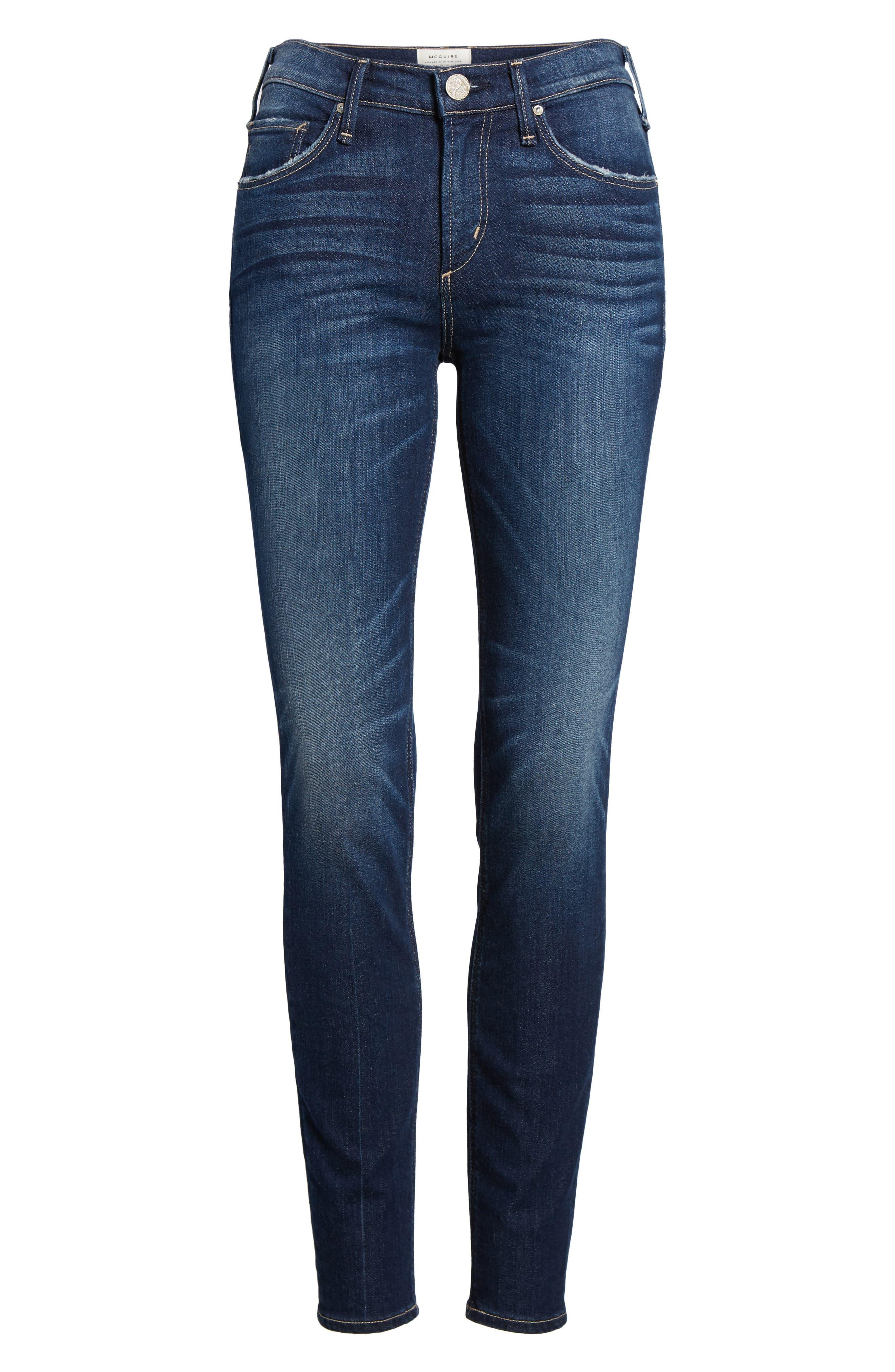 Newton Skinny Jeans,                             Alternate thumbnail 7, color,                             Chateau