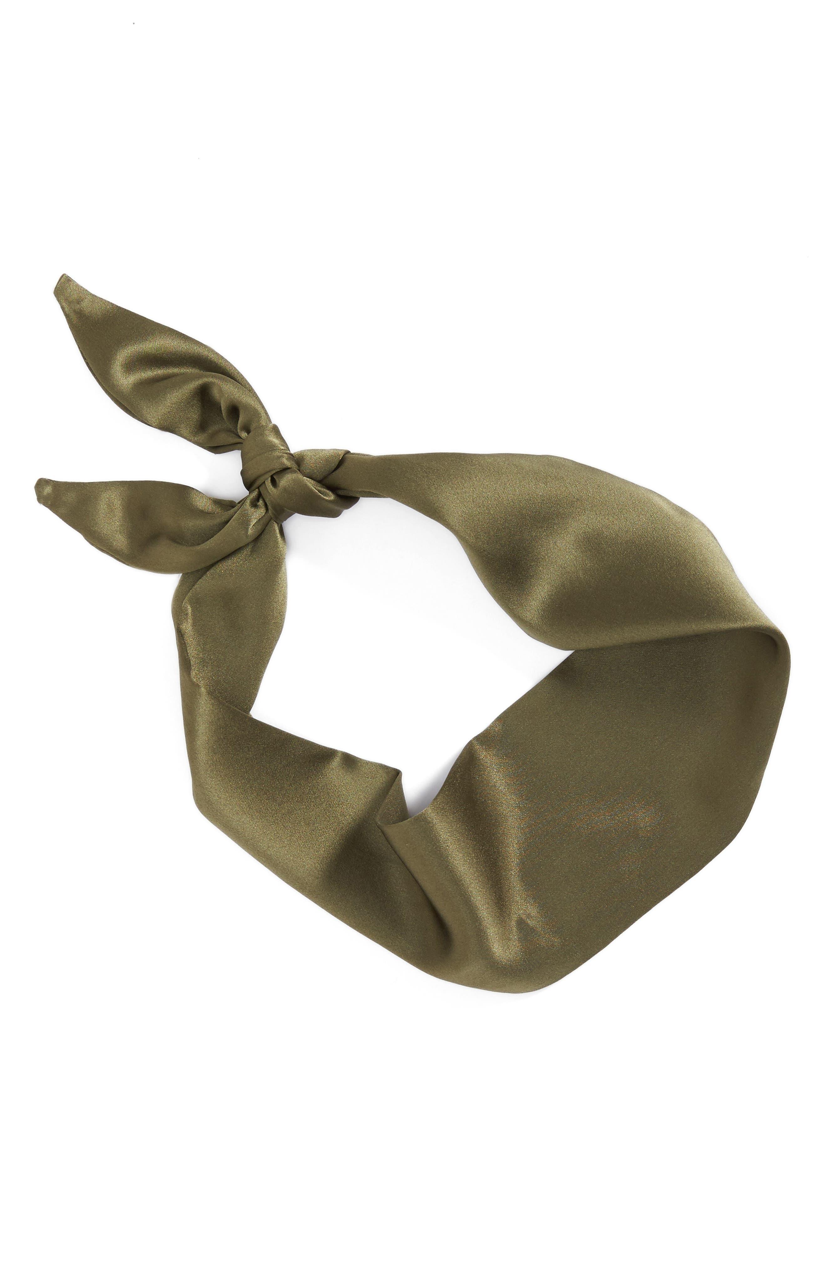 Silk Neckerchief,                         Main,                         color, Army