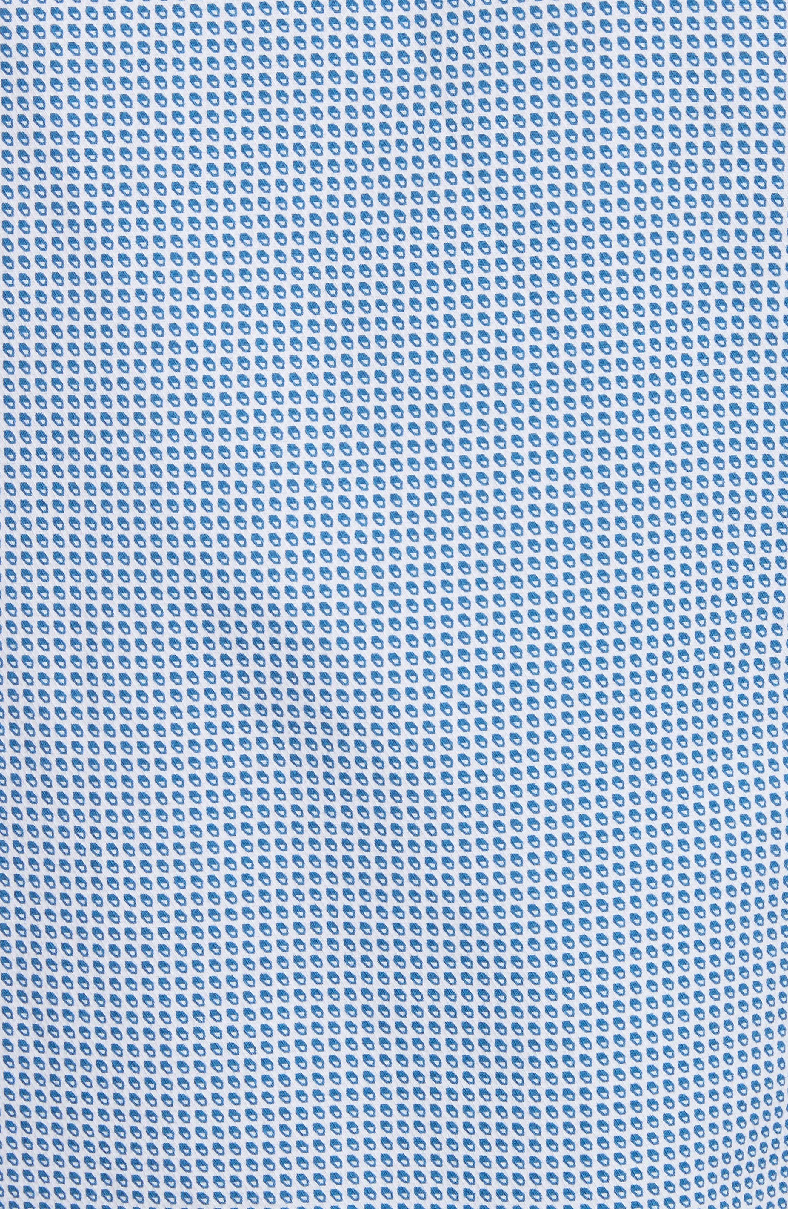 Geo Print Regular Fit Sport Shirt,                             Alternate thumbnail 5, color,                             Blue