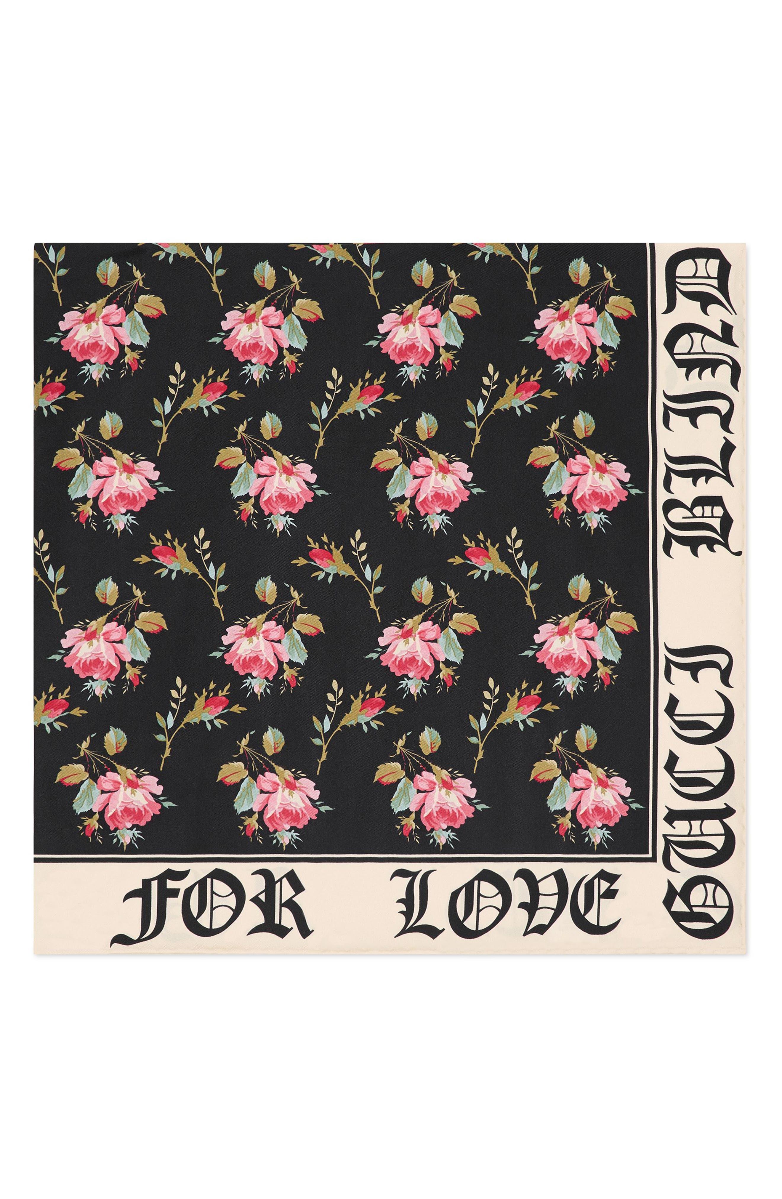 Alternate Image 2  - Gucci Blind For Love Rose Foulard Scarf