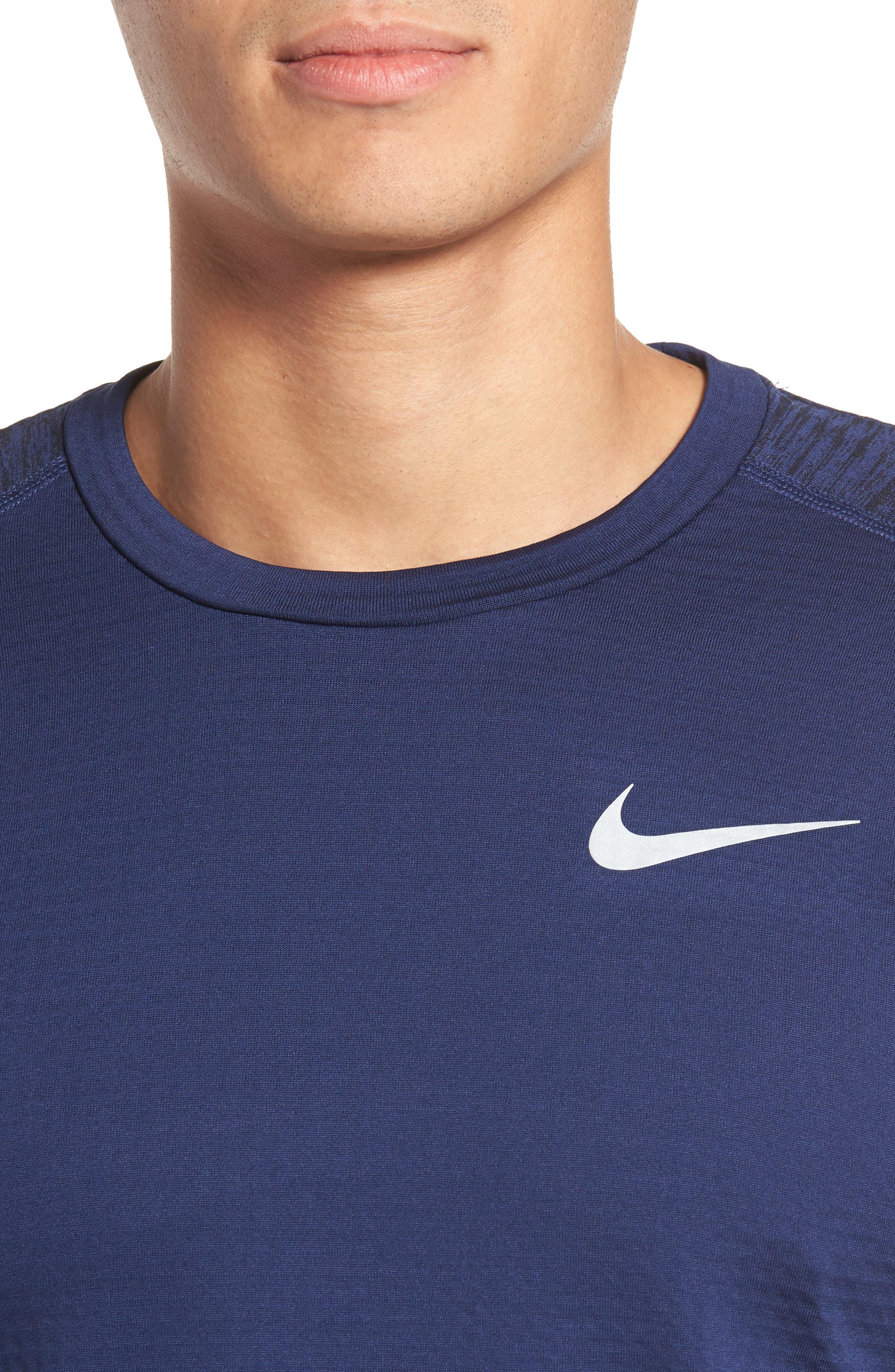 ThermaSphere Long Sleeve Running T-Shirt,                             Alternate thumbnail 8, color,                             Binary Blue/ Purple/ Heather