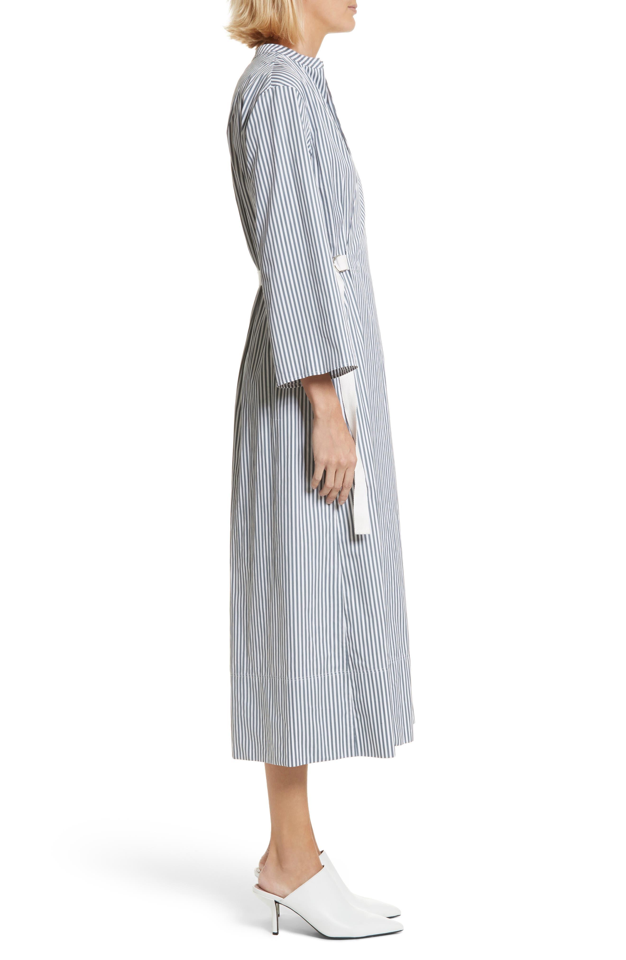 Candy Stripe Midi Dress,                             Alternate thumbnail 3, color,                             Ink