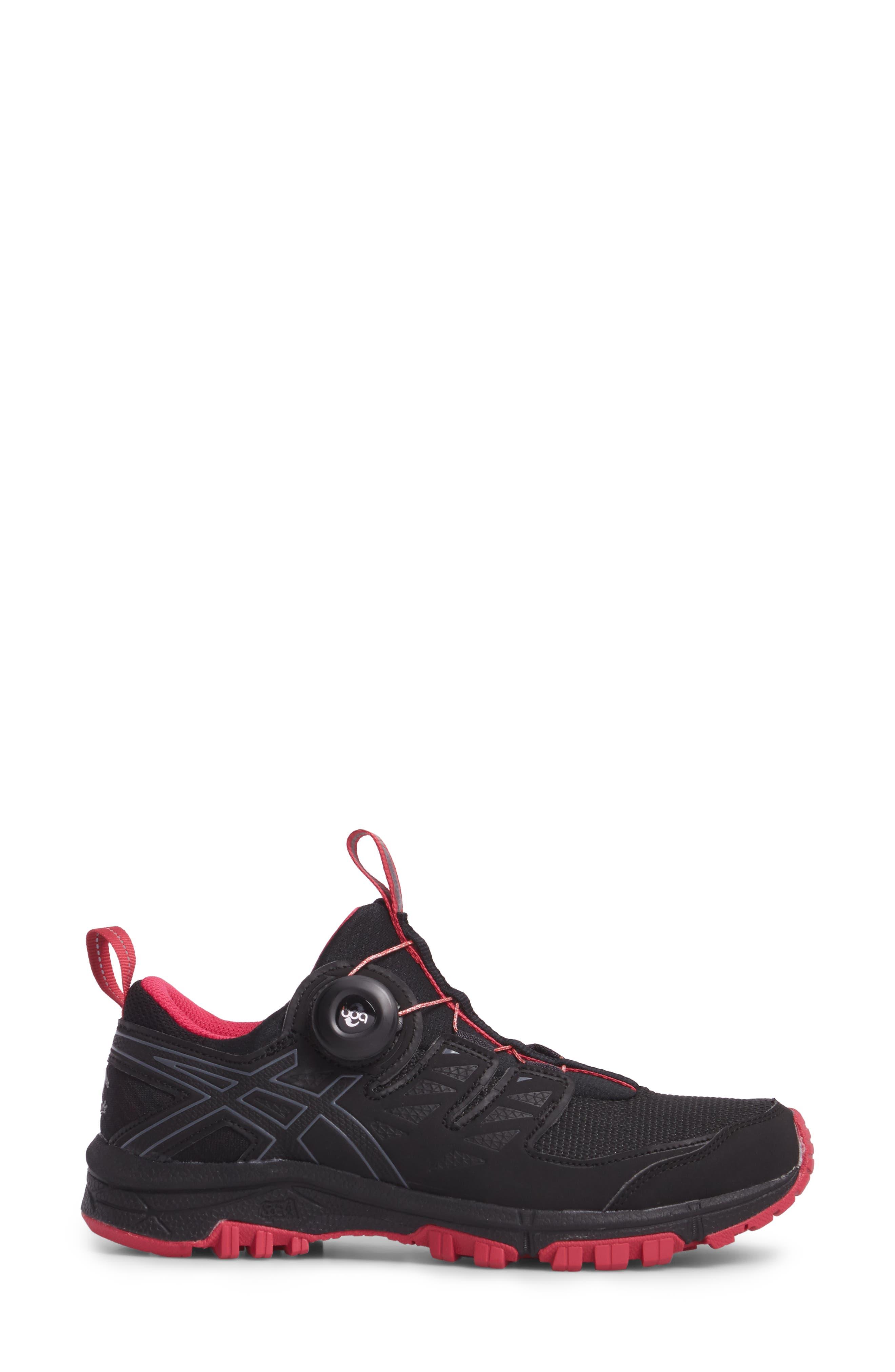 GEL-Fujirado Running Shoe,                             Alternate thumbnail 3, color,                             Black/ Carbon/ Cosmo Pink