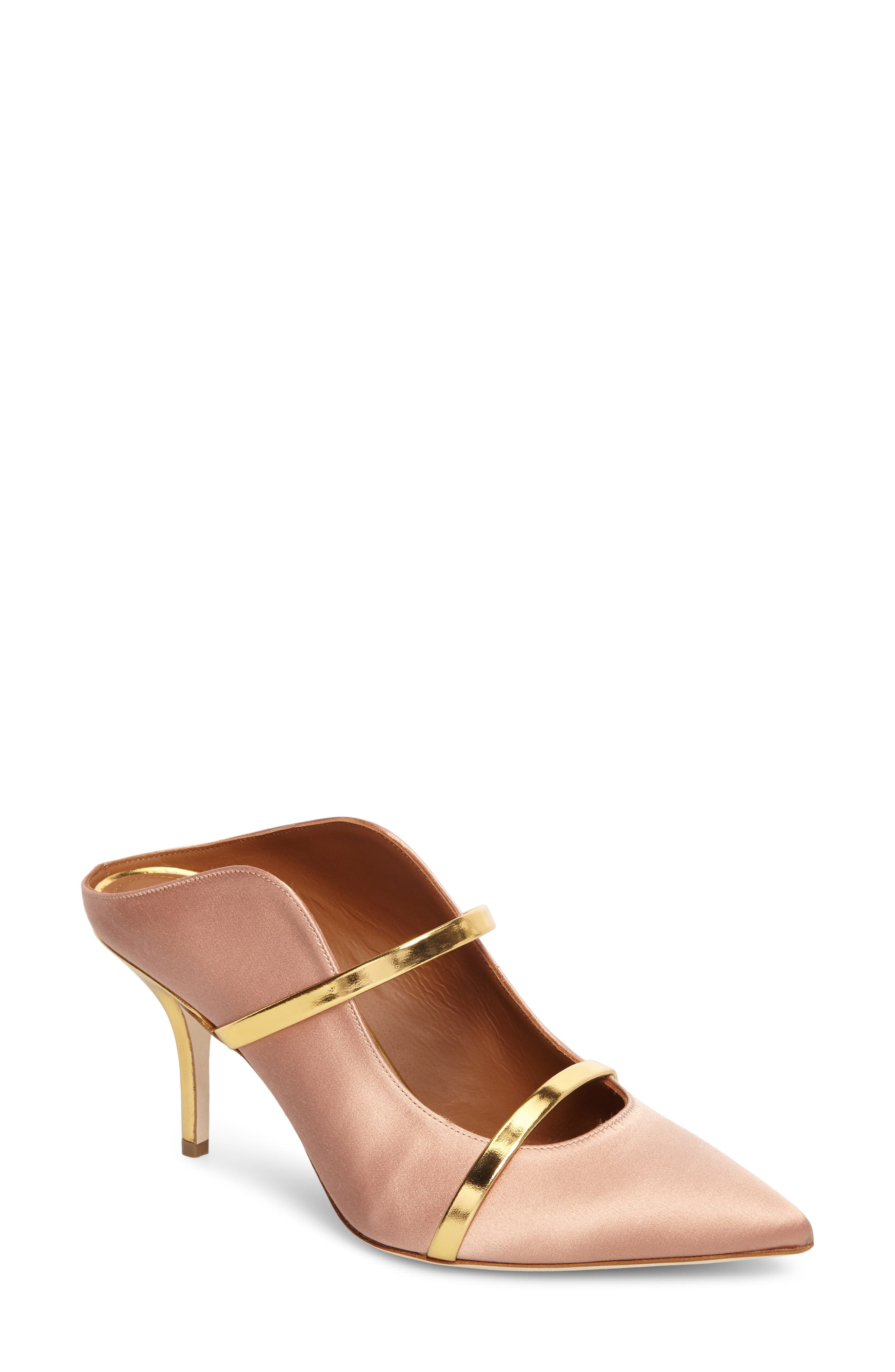 Maureen Double Band Mule,                             Main thumbnail 1, color,                             Blush/ Gold