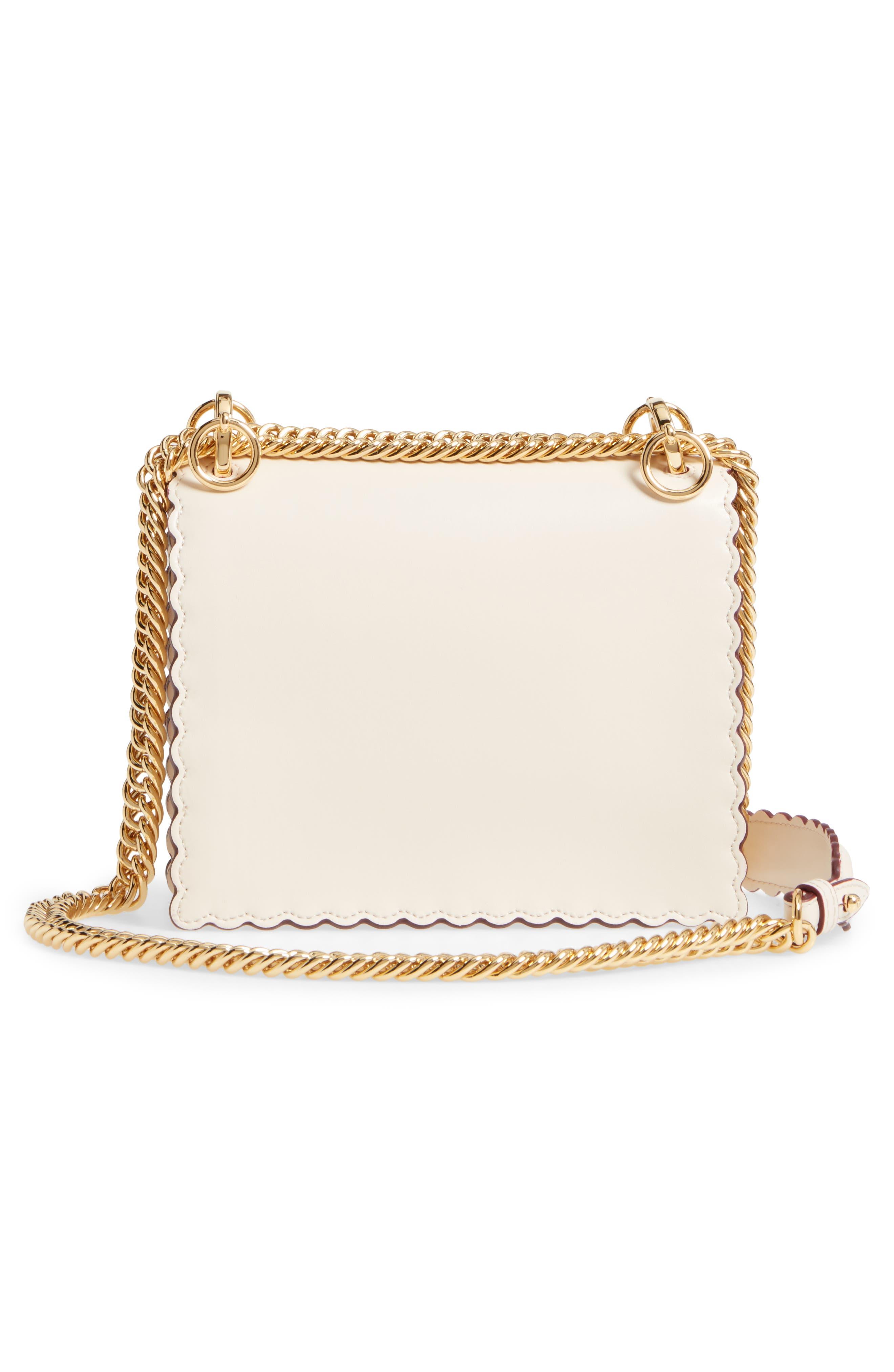 Alternate Image 3  - Fendi Mini Kan I Scalloped Leather Shoulder Bag