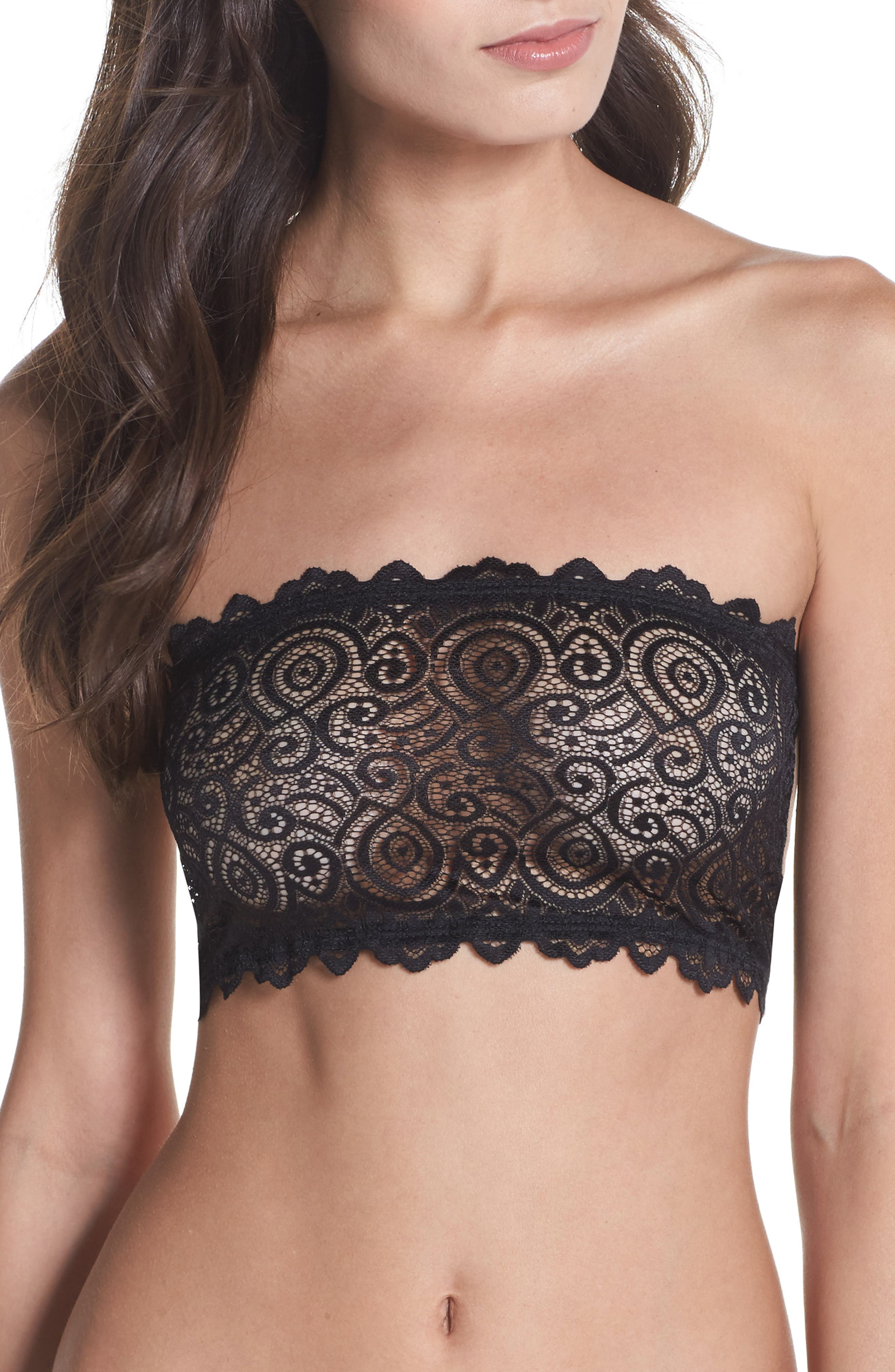Intimately FP Lace Reversible Seamless Bandeau,                         Main,                         color, Black Combo