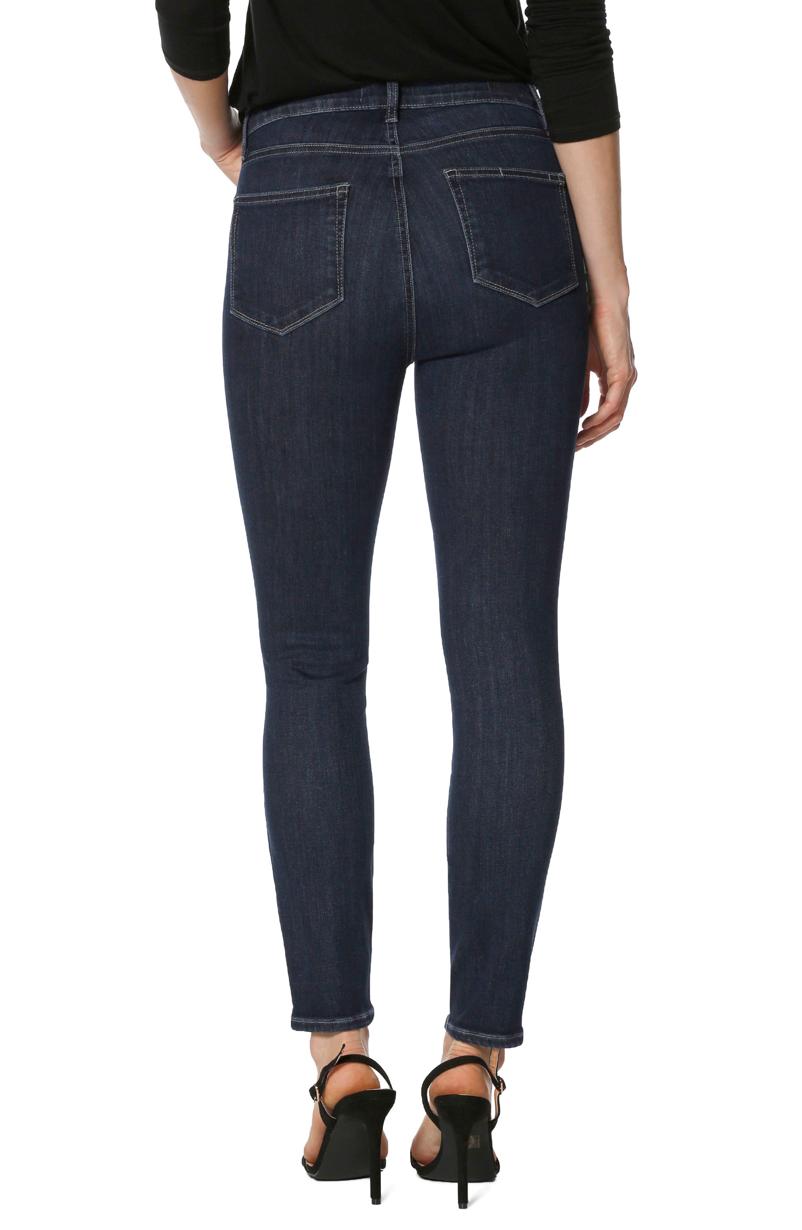 Transcend Vintage - Margot High Waist Ankle Ultra Skinny Jeans,                             Alternate thumbnail 2, color,                             Regal