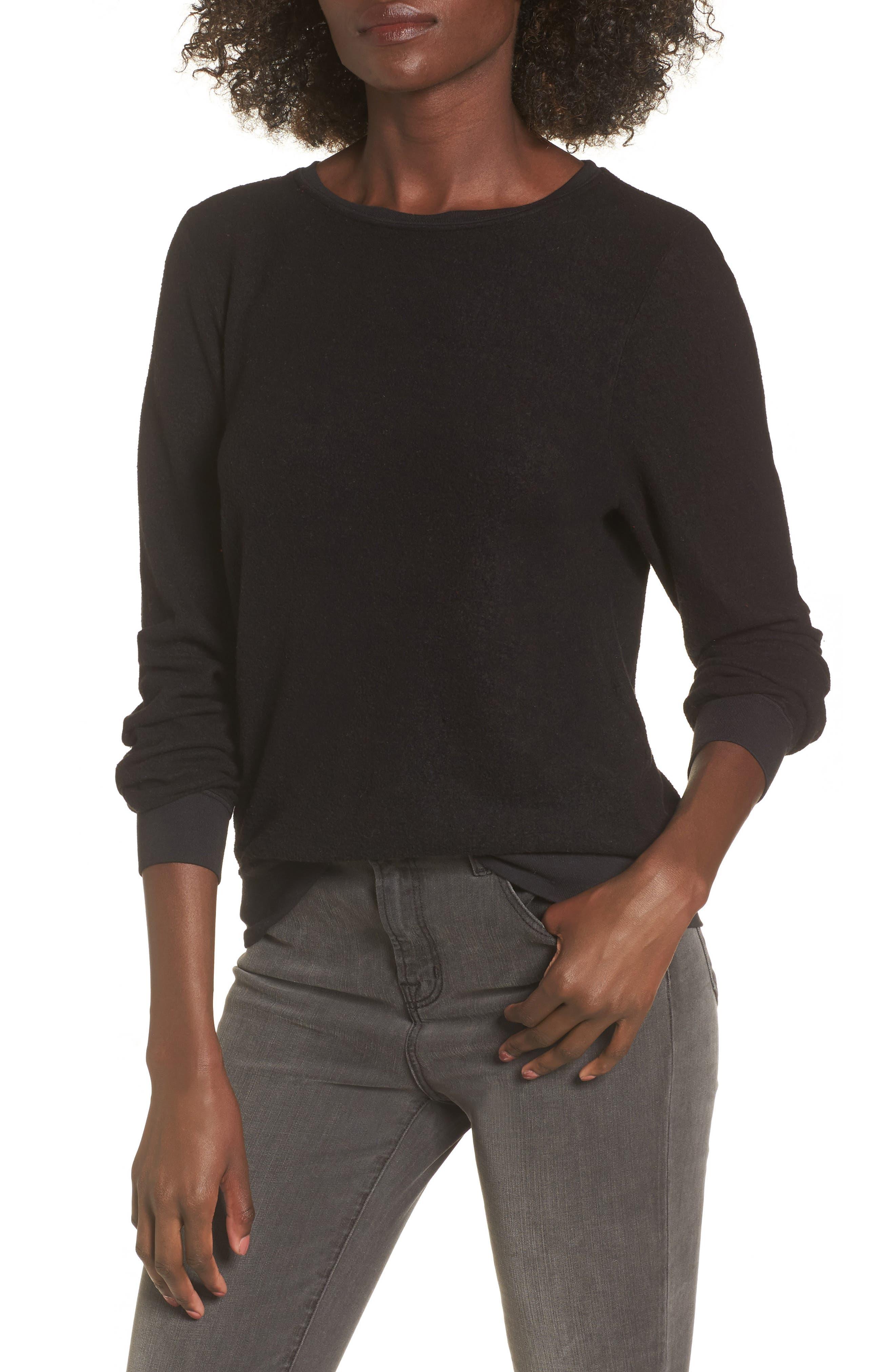 Sweatshirt,                         Main,                         color, Jet Black