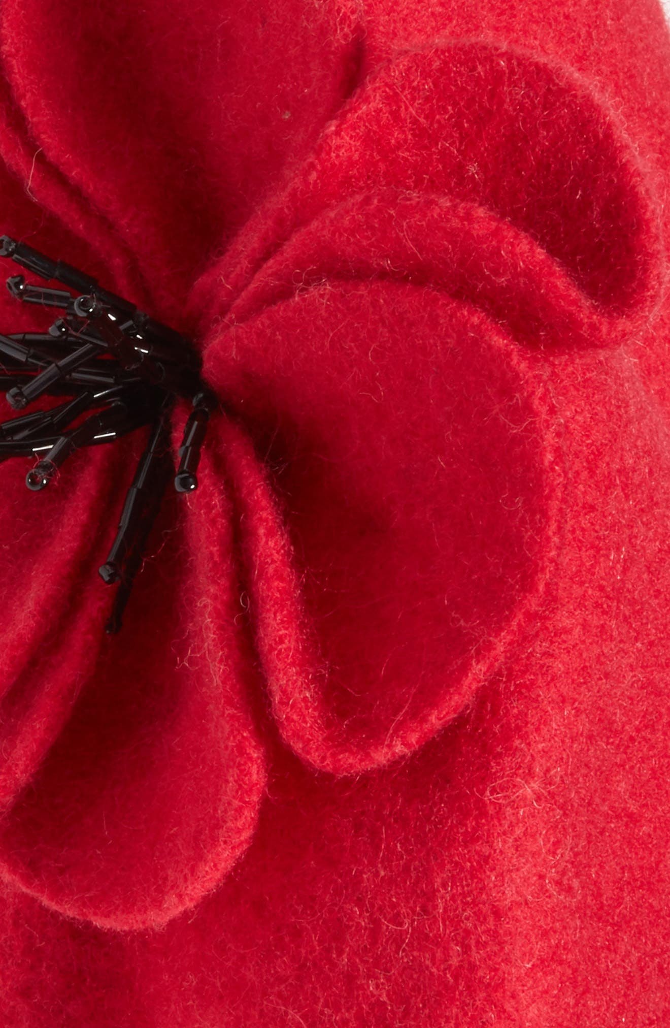 Alternate Image 2  - kate spade new york felt poppy beret