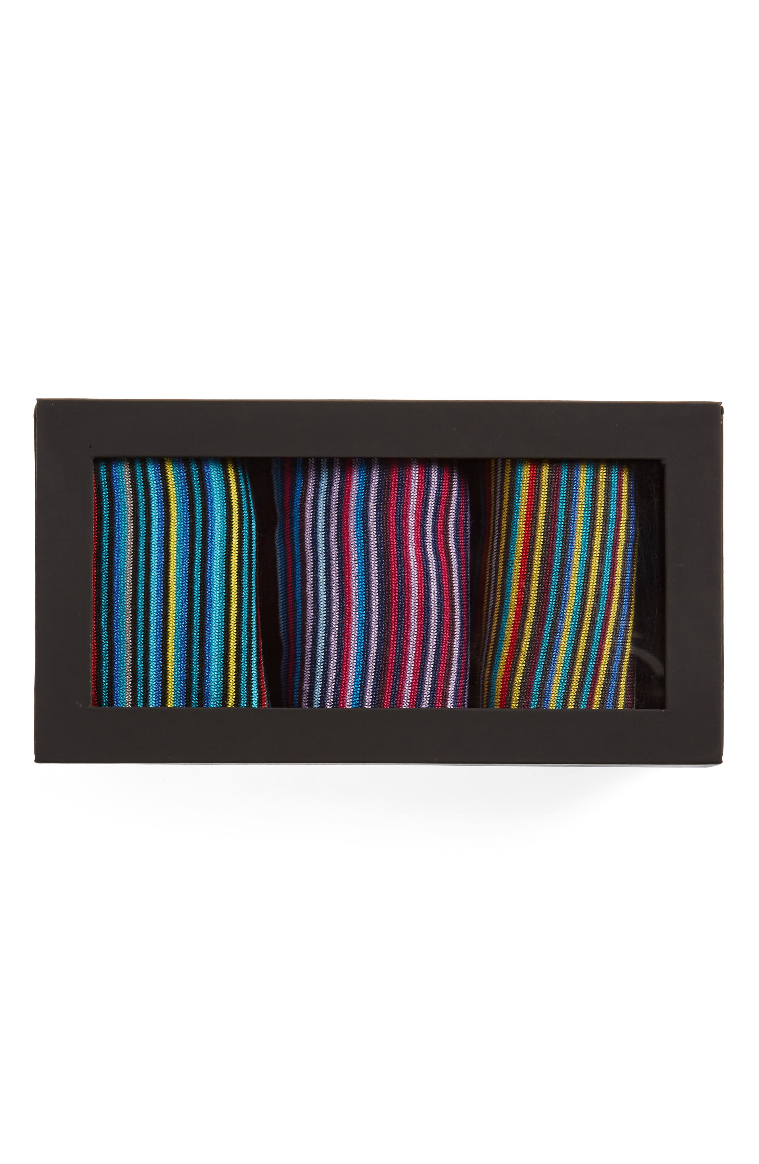 Alternate Image 2  - Bugatchi 3-Pack Stripe Cotton & Cashmere Blend Socks ($59.85 Value)