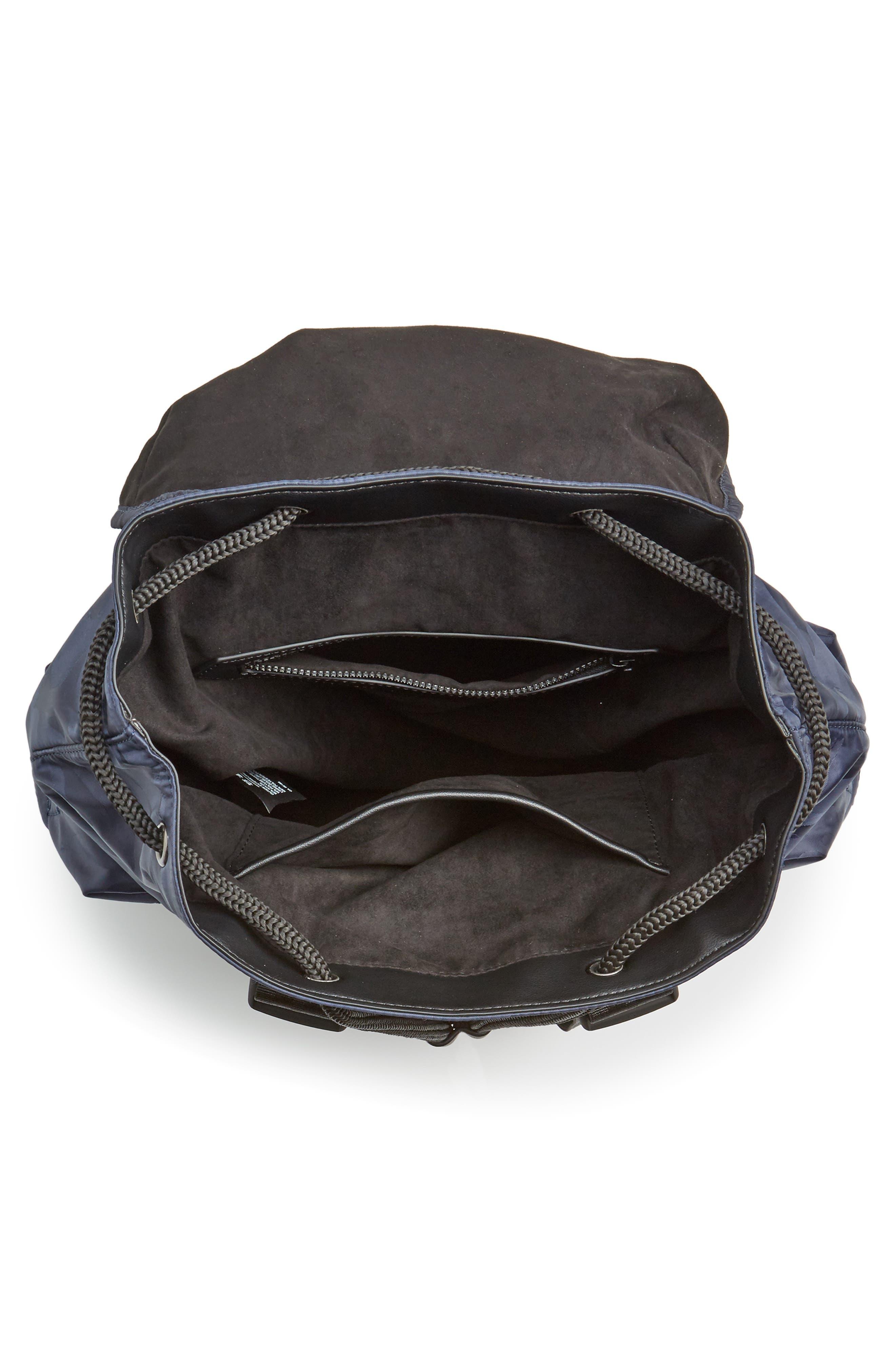Jordyn Nylon Backpack,                             Alternate thumbnail 4, color,                             Navy Camo