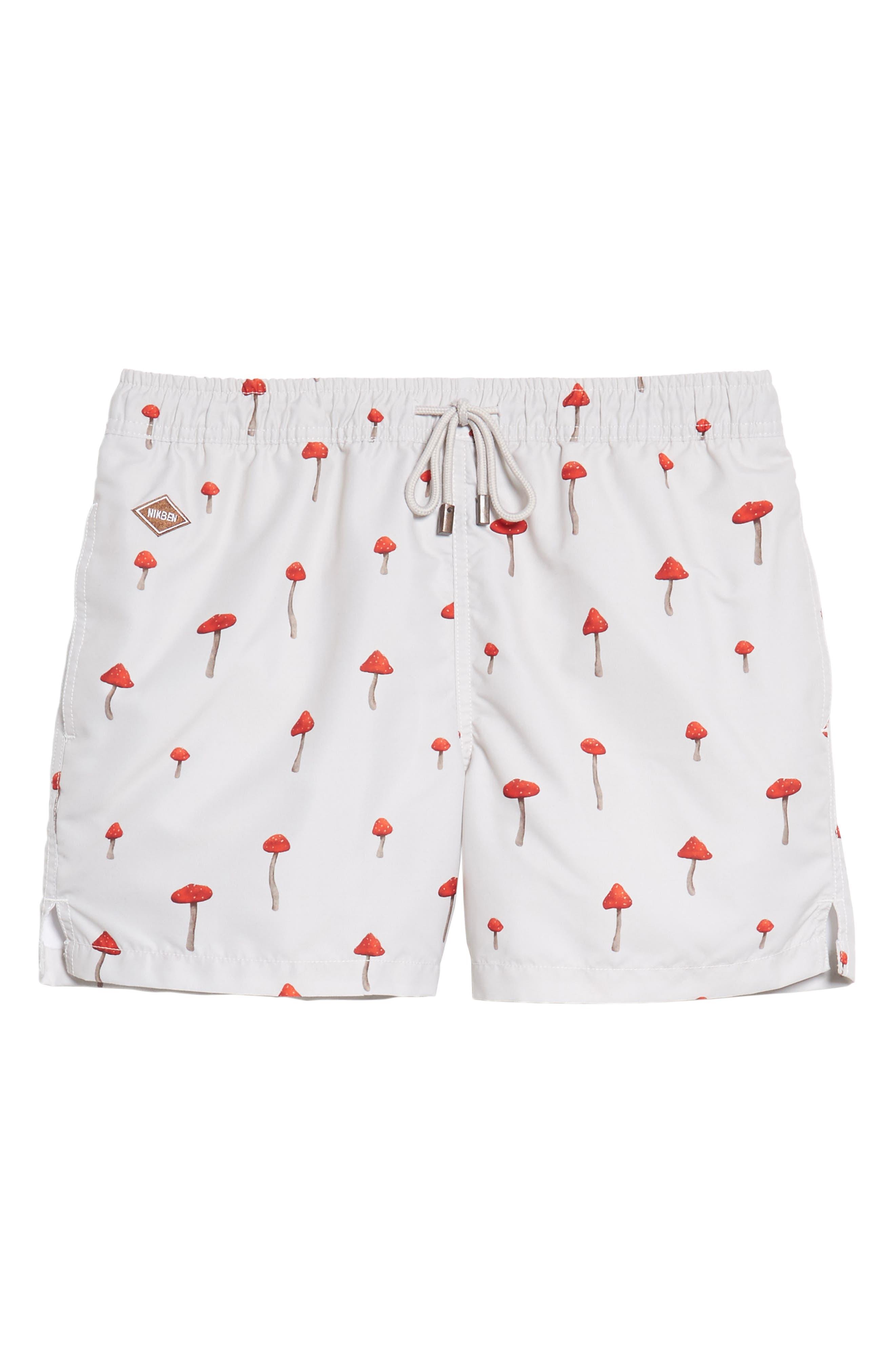 Moshi Moshi Board Shorts,                             Alternate thumbnail 6, color,                             Off White