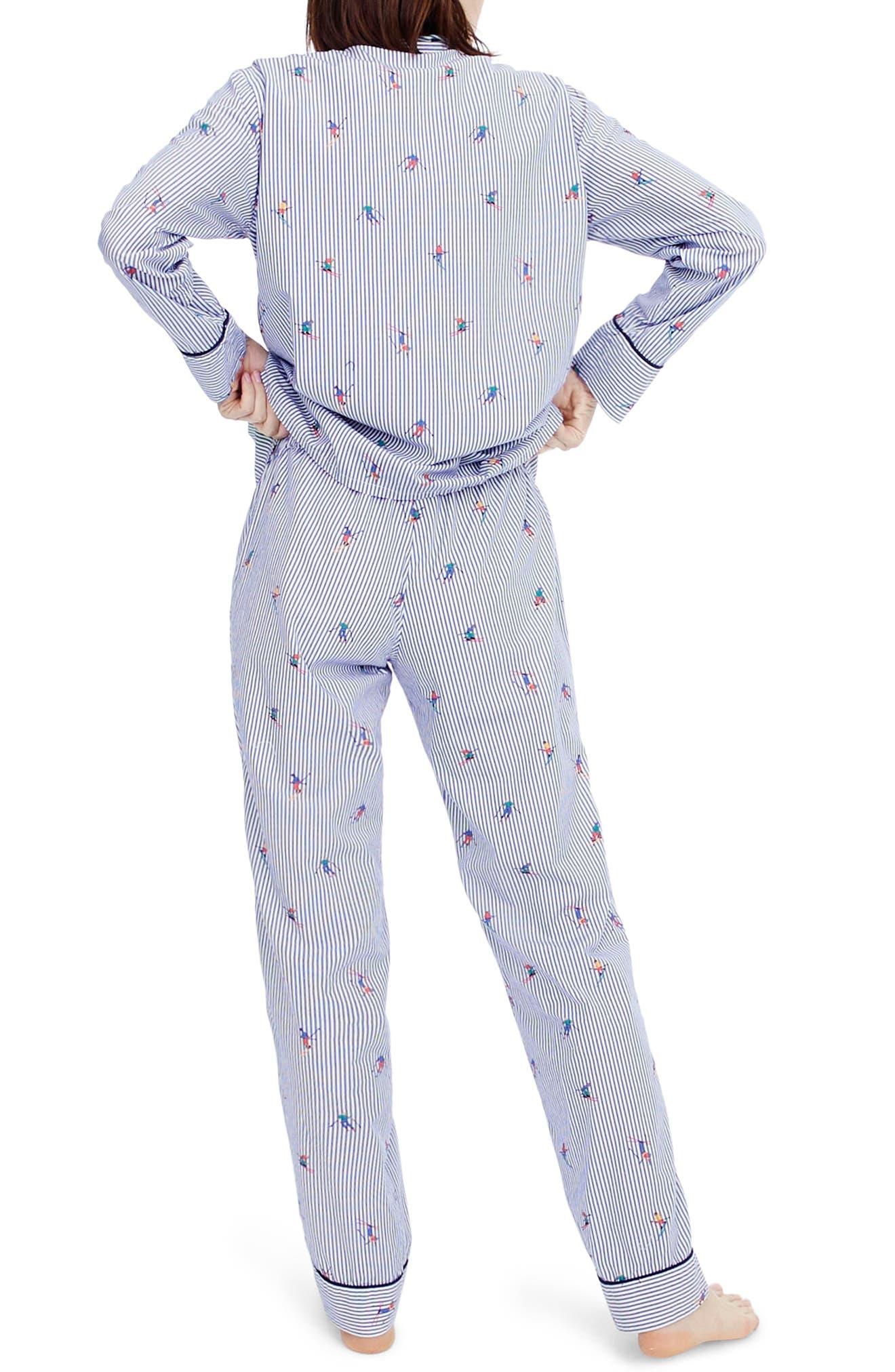 Alternate Image 2  - J.Crew Skier Pajamas