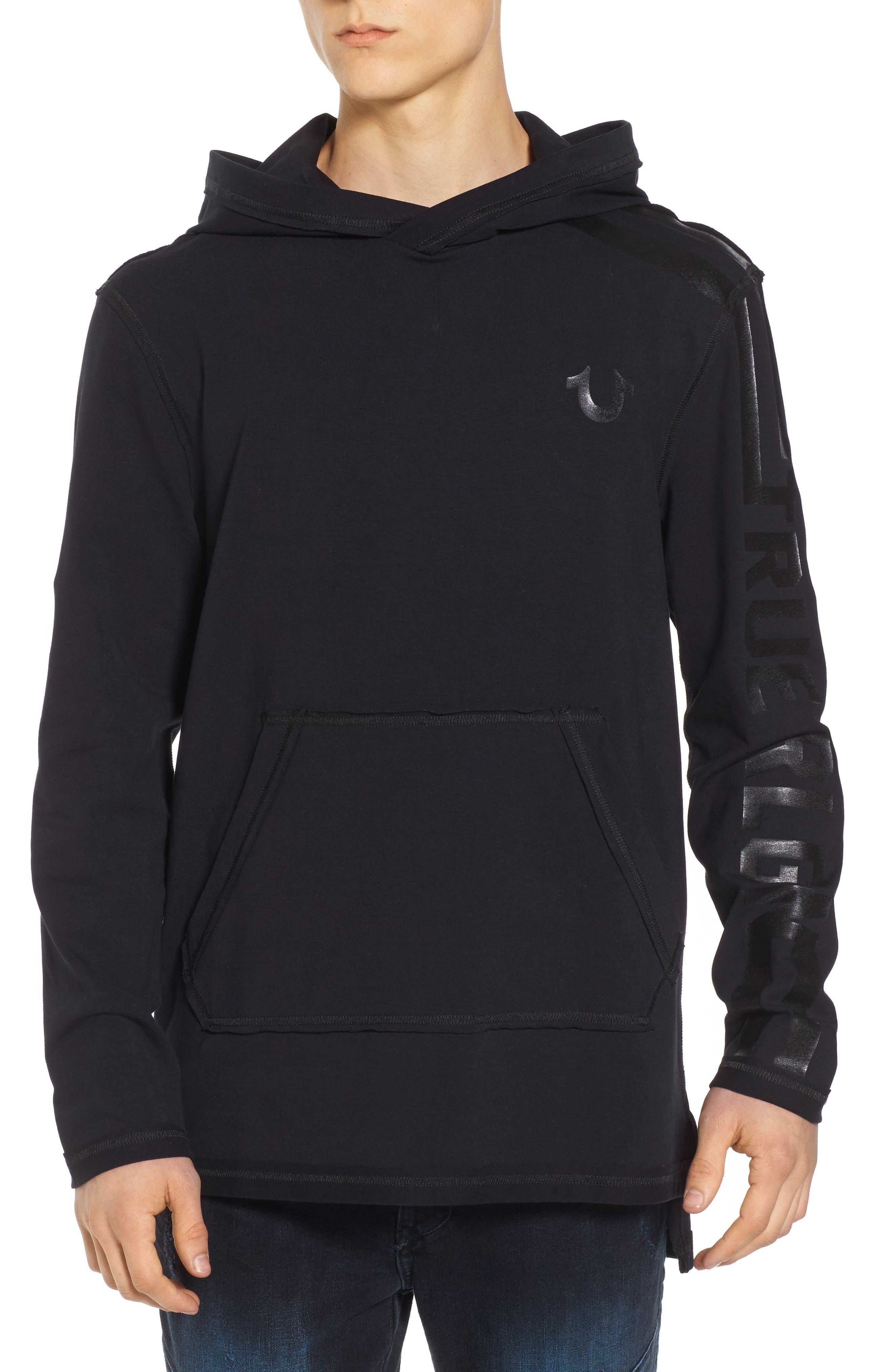 Varsity Hoodie,                         Main,                         color, Black