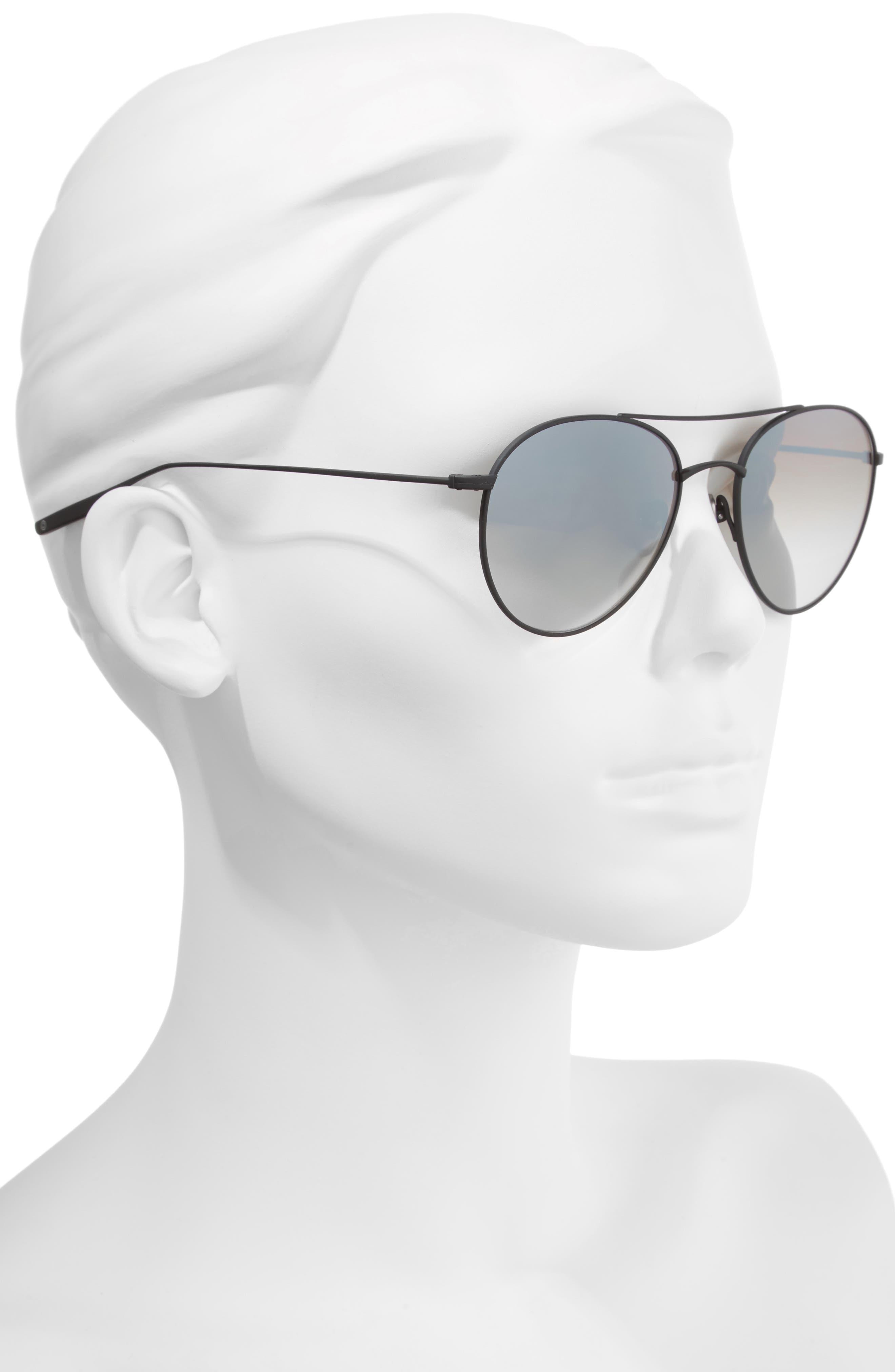 Fufkin 54mm Polarized Round Sunglasses,                             Alternate thumbnail 2, color,                             Black Sand