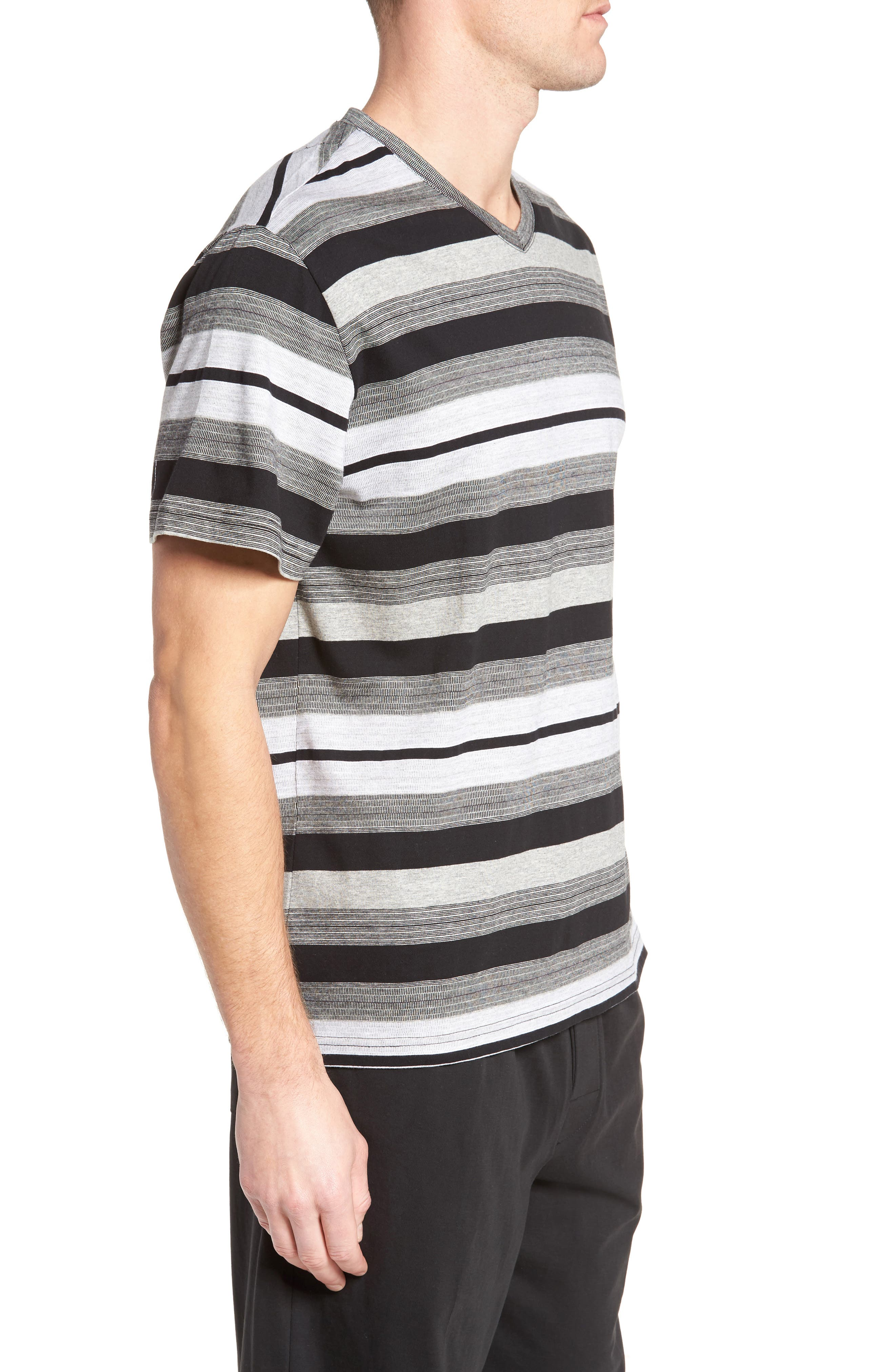 Alternate Image 3  - Majestic International Stripe V-Neck T-Shirt