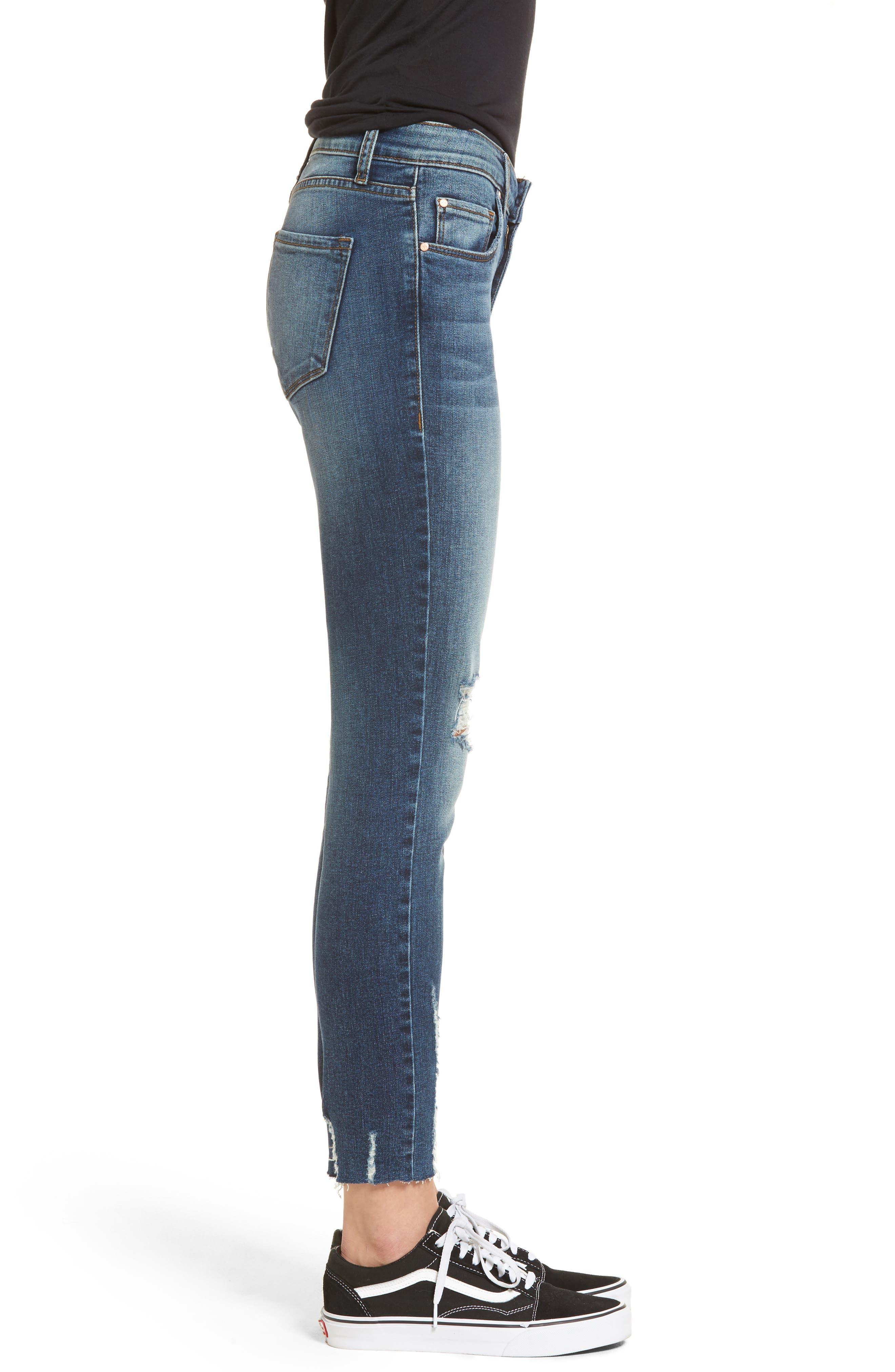 Decon Distressed Skinny Jeans,                             Alternate thumbnail 3, color,                             Vintage