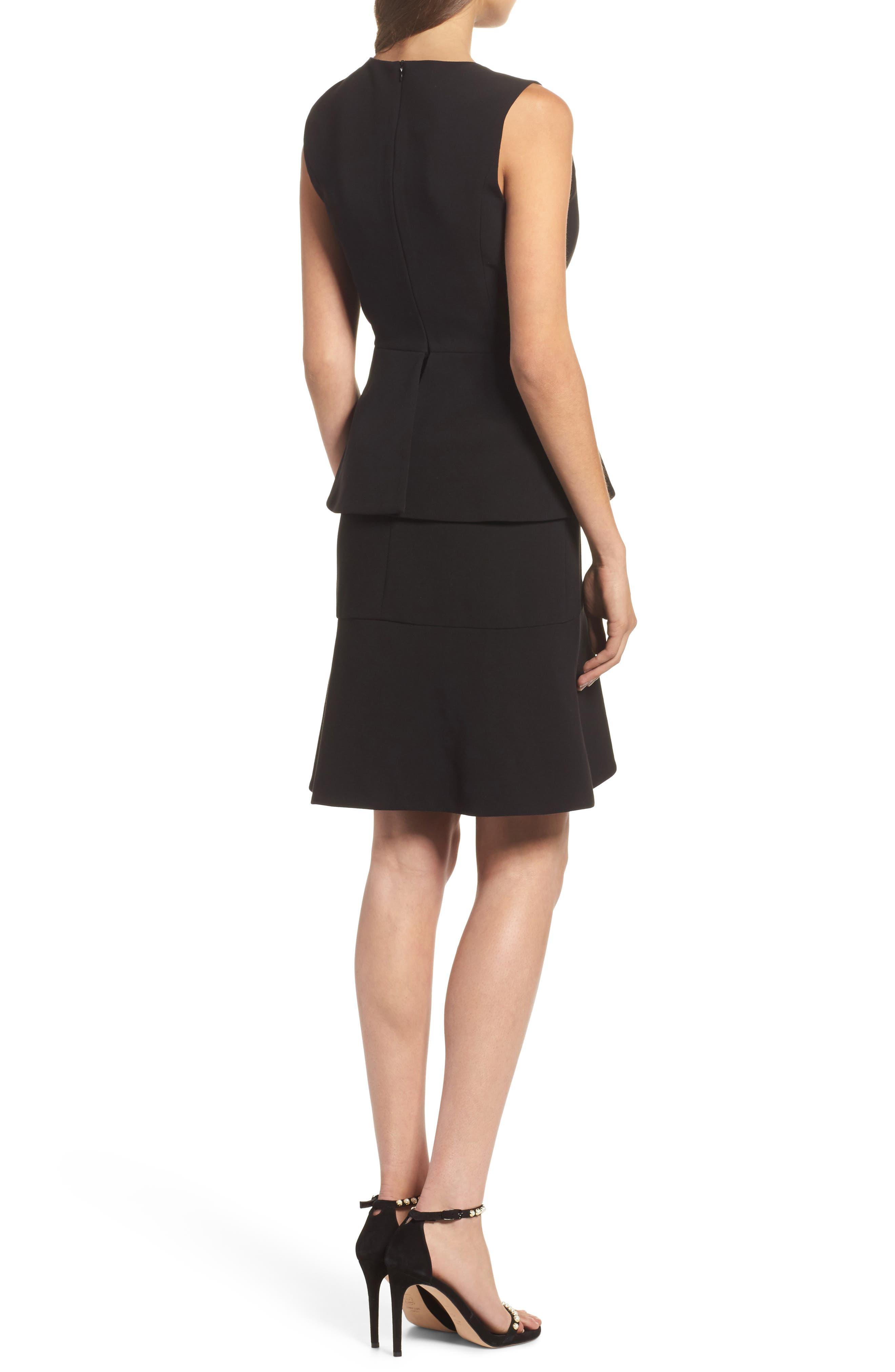 Tulip Ruffle Dress,                             Alternate thumbnail 2, color,                             Black