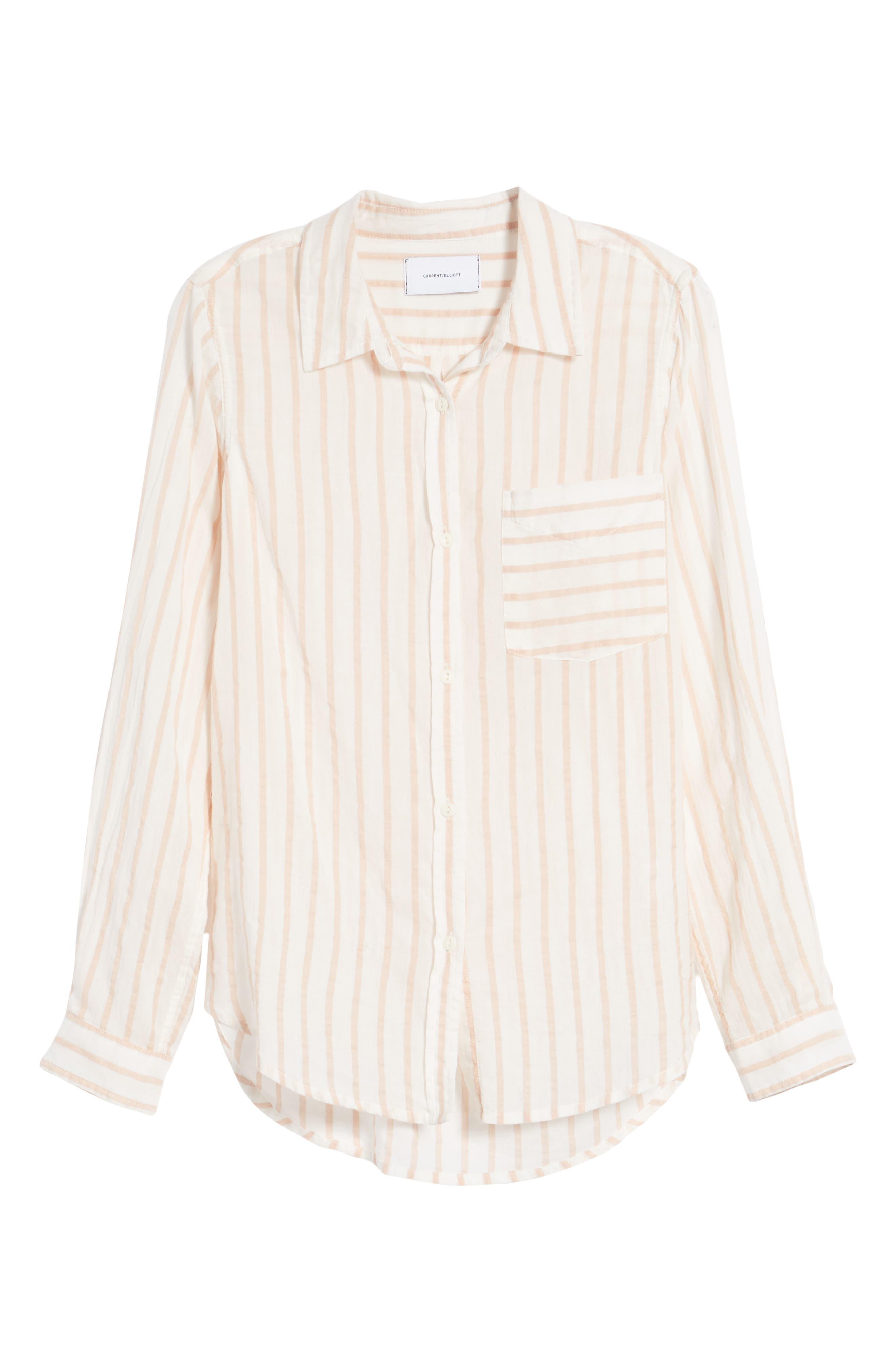 The Boyfriend Shirt,                             Alternate thumbnail 6, color,                             Gable Stripe