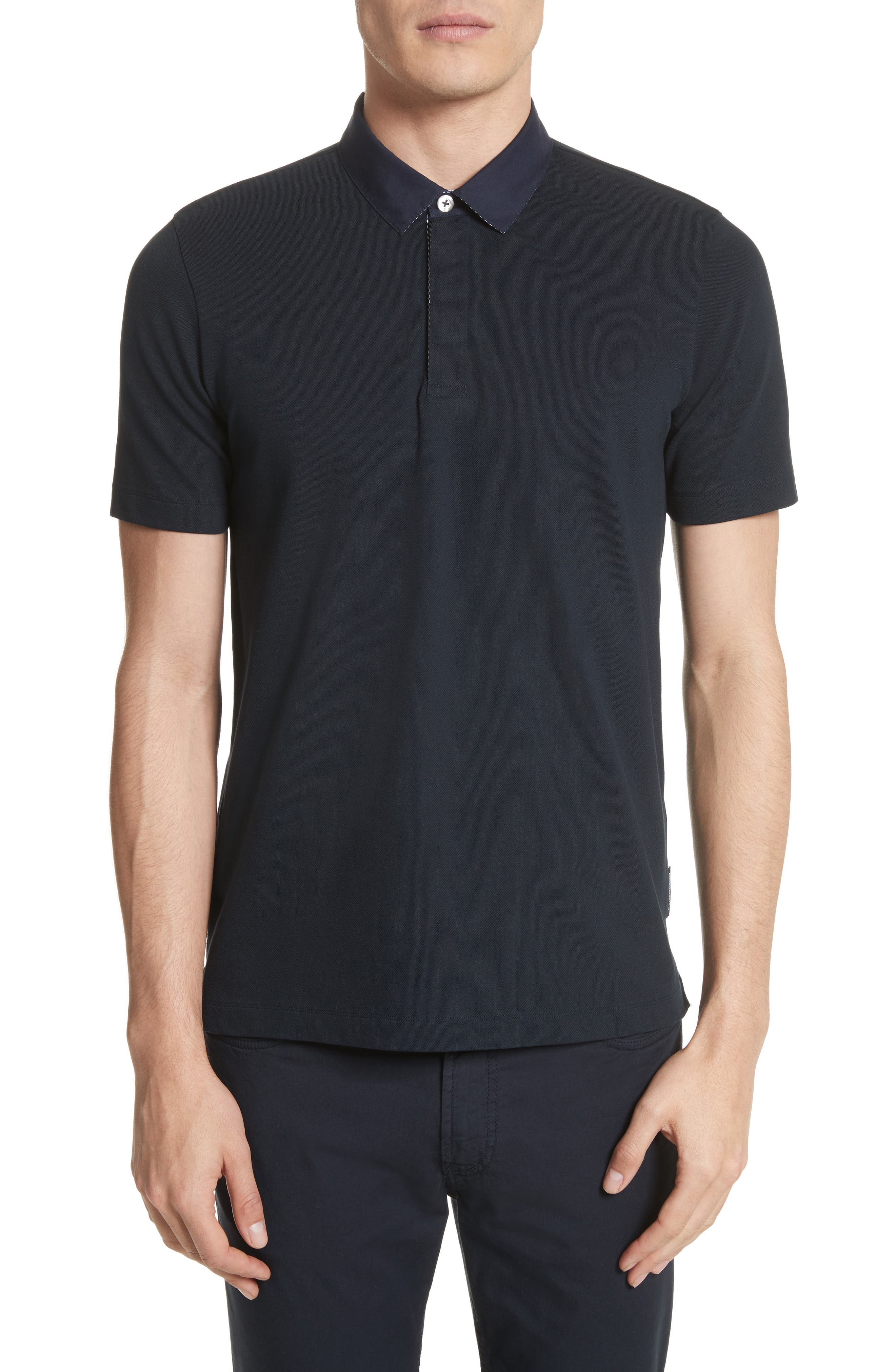 Slim Fit Stretch Polo,                         Main,                         color, Blue Navy
