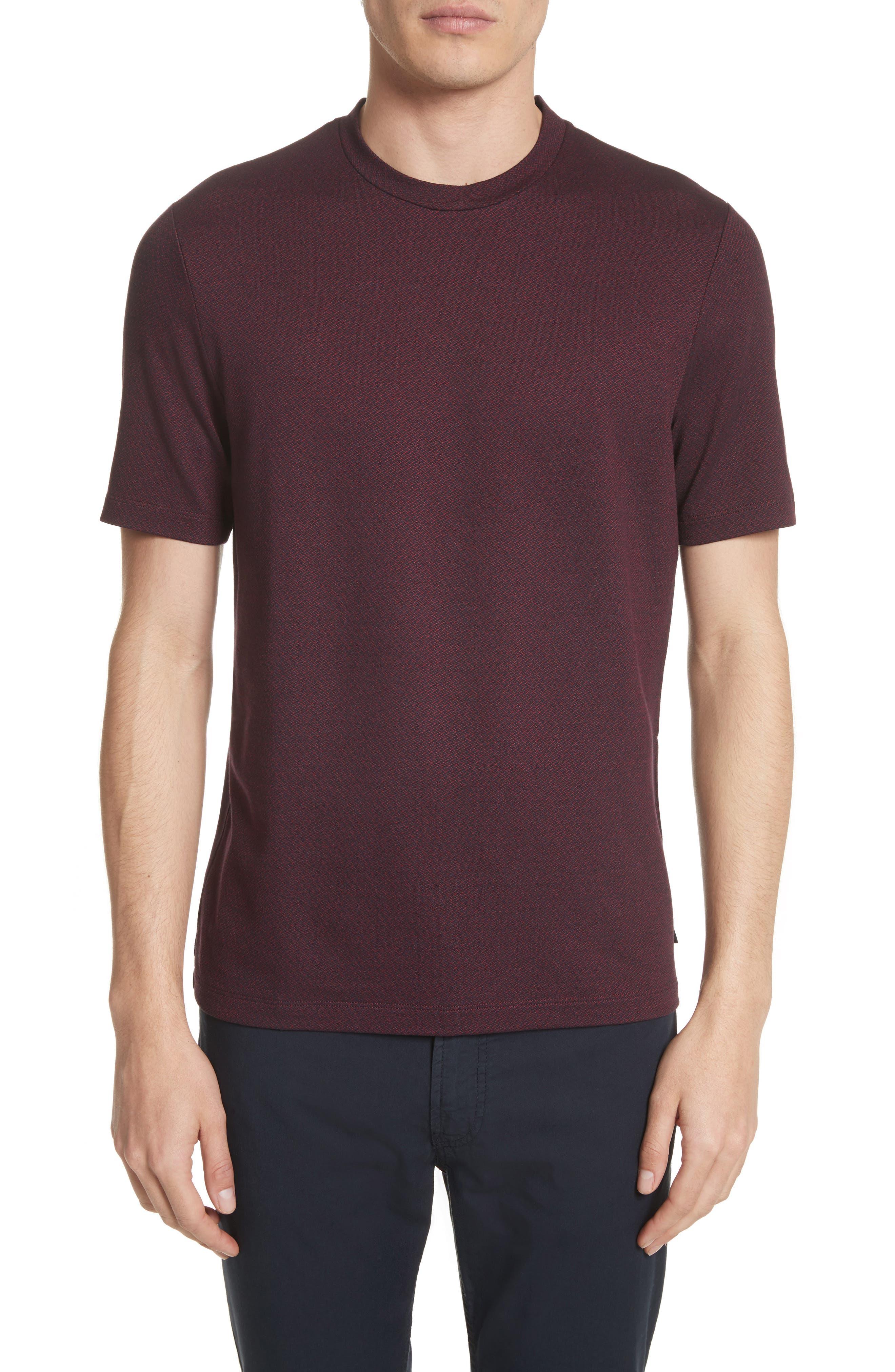 Main Image - Armani Collezioni Slim Fit Jacquard T-Shirt