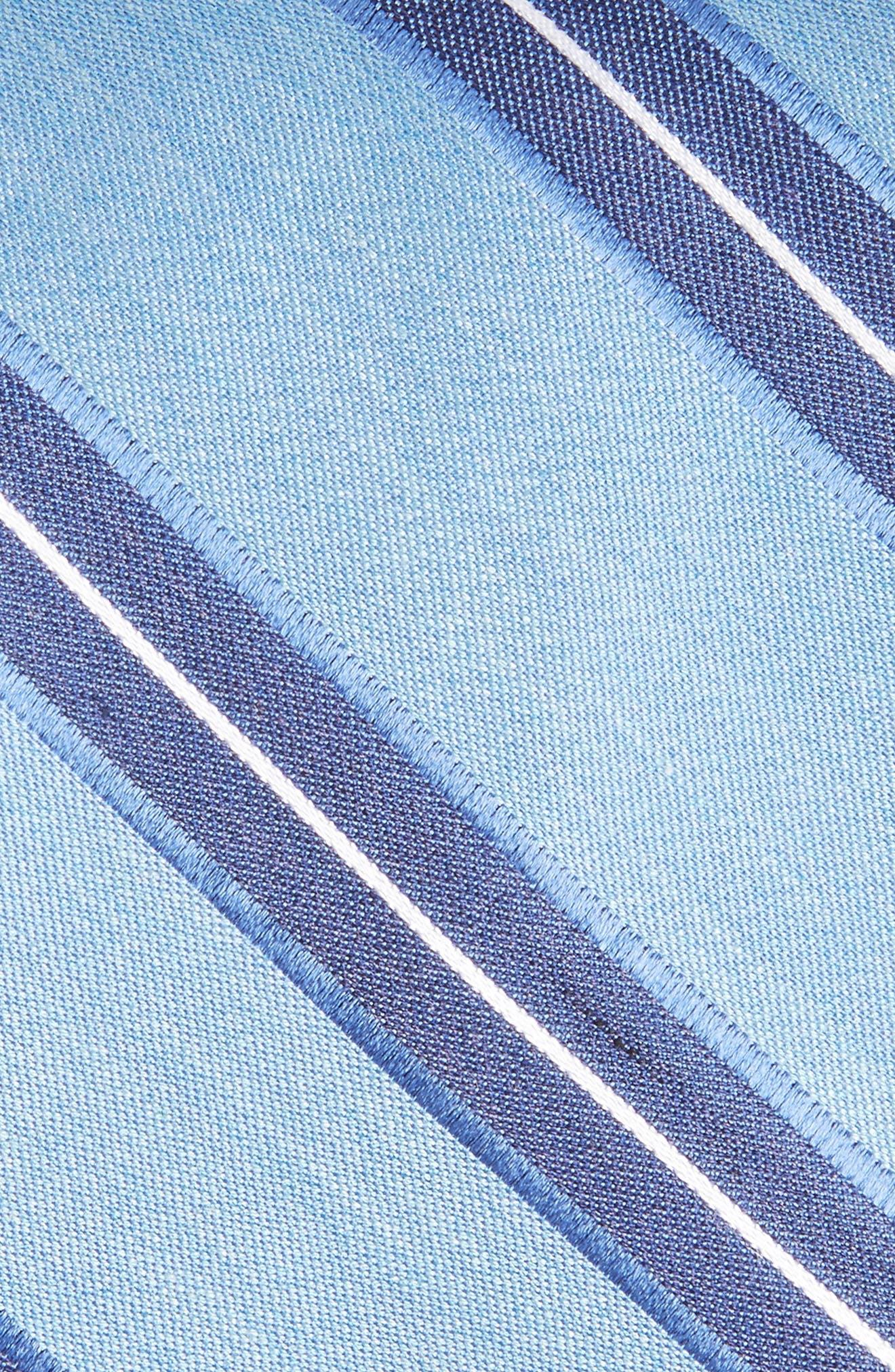 Peralba Stripe Silk Blend Tie,                             Alternate thumbnail 2, color,                             Light Blue