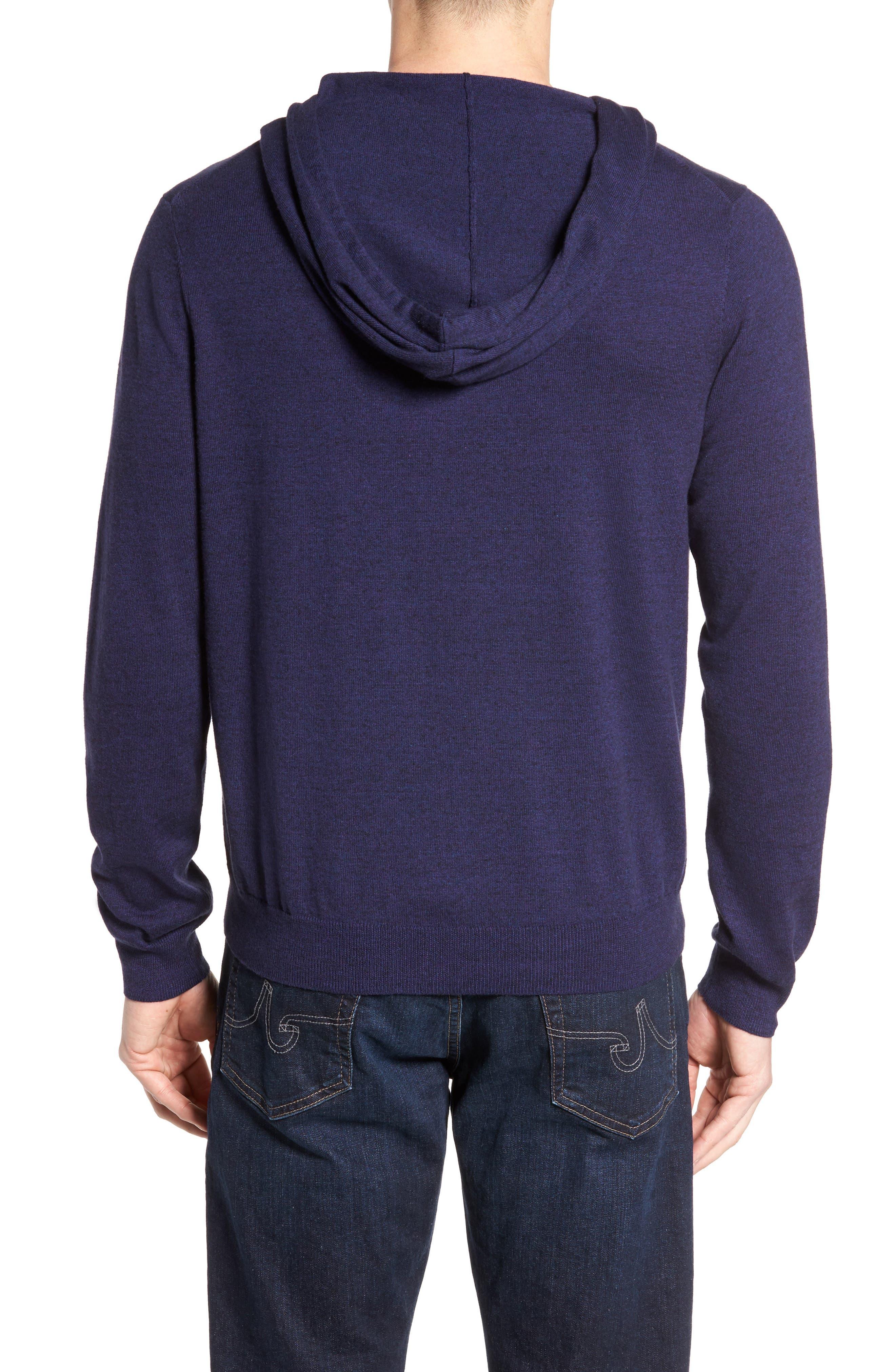 Alternate Image 2  - Nordstrom Men's Shop Fine Gauge Cotton Hoodie