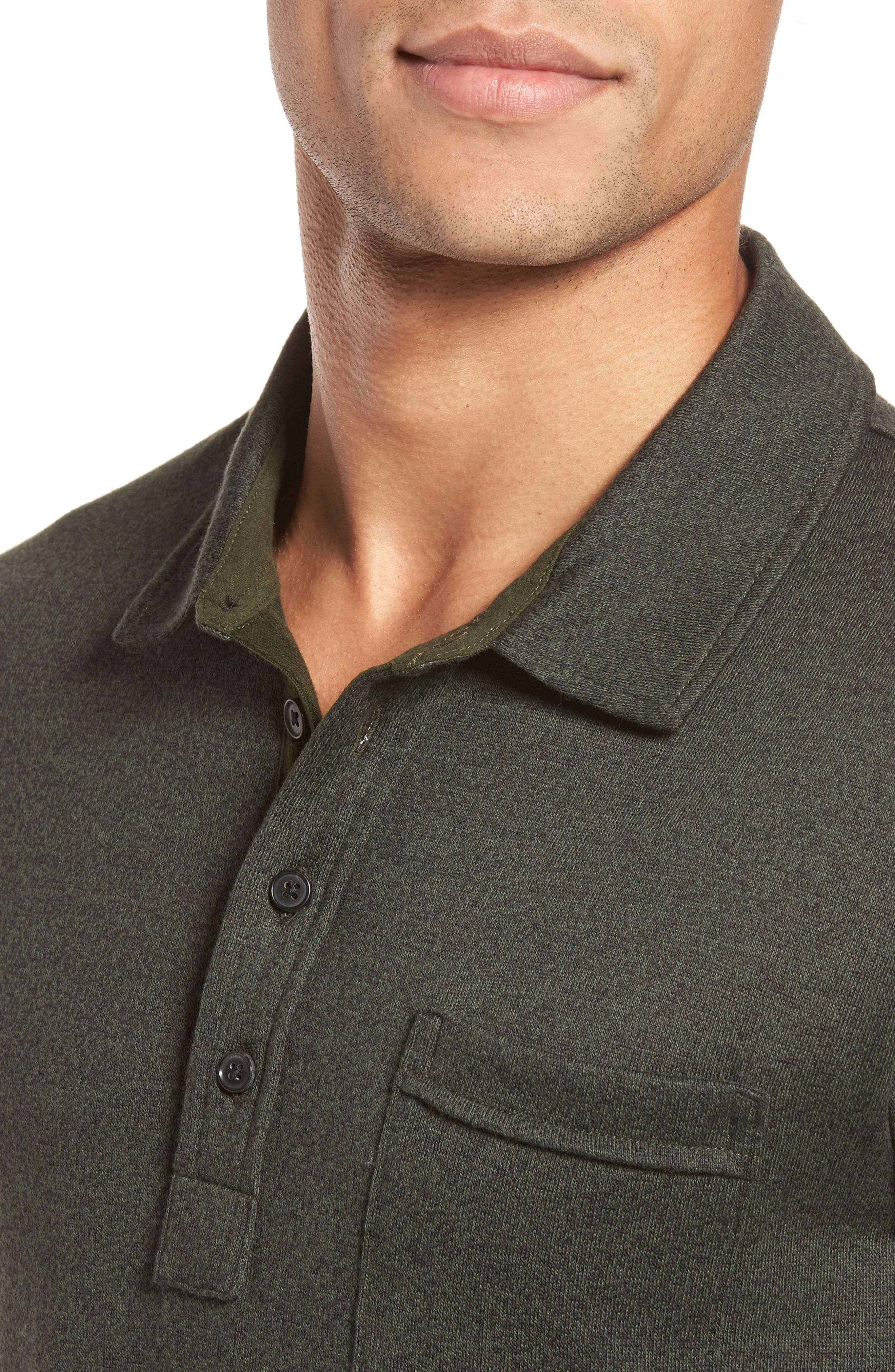 Smith Slim Fit Polo,                             Alternate thumbnail 4, color,                             Pine Green